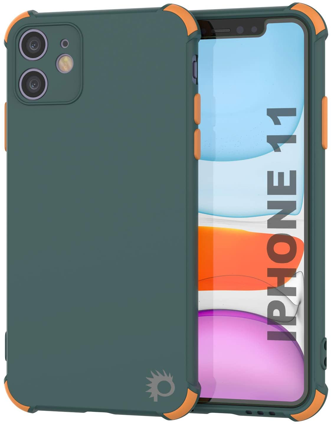Punkcase Protective & Lightweight TPU Case [Sunshine Series] for iPhone 11 [Dark Green]