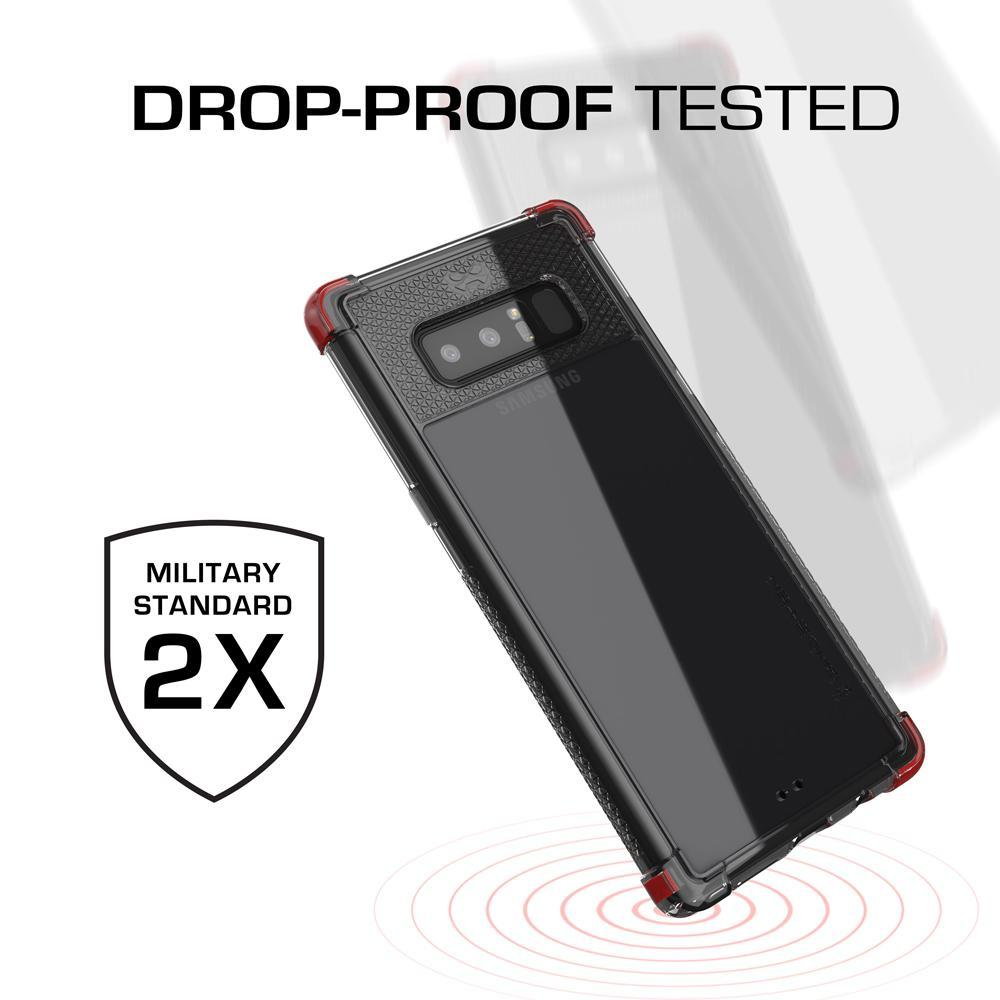 Galaxy Note 8 Case, Ghostek Covert 2 Thin Fit Transparent Case , Red