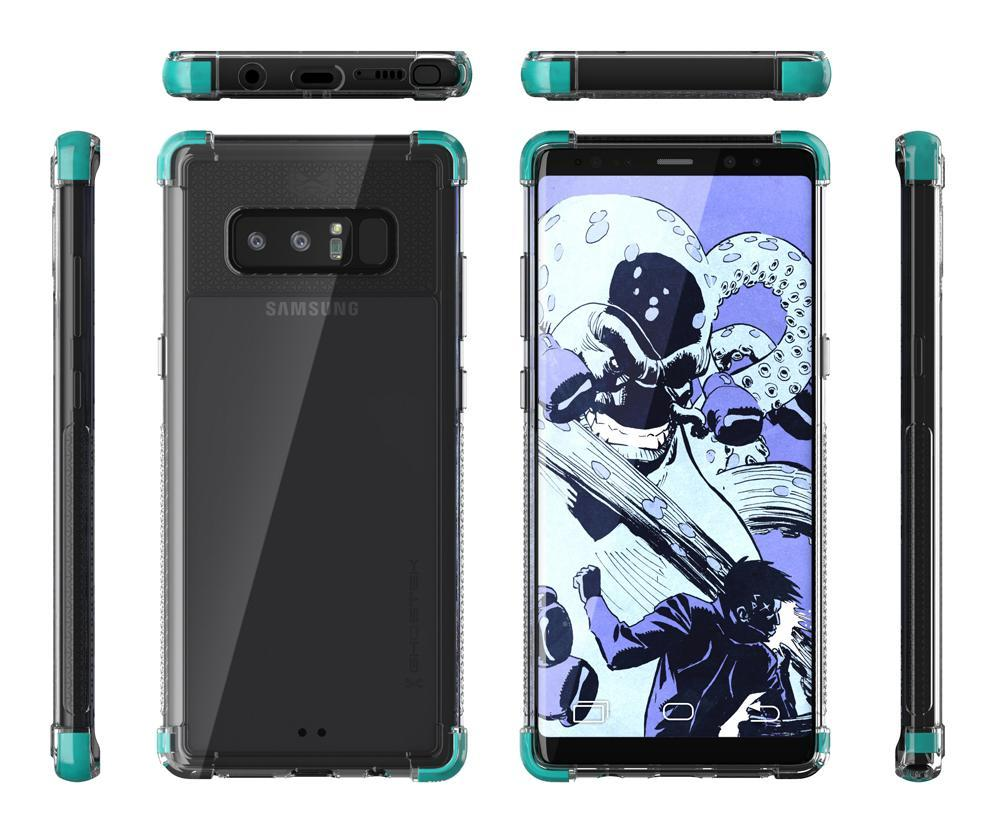 Galaxy Note 8 Case, Ghostek Covert 2 Thin Fit Transparent Case , Teal