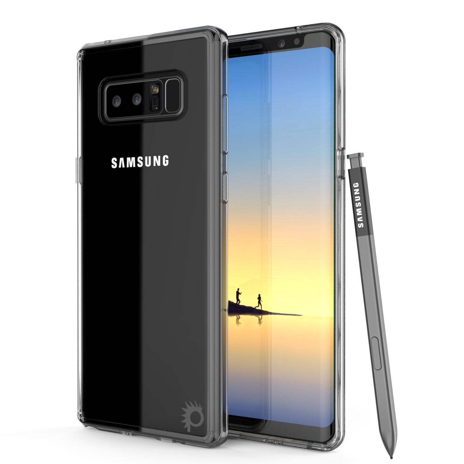 Galaxy Note 8 Punkcase, LUCID 2.0 Series Armor Cover, [Crystal Black]
