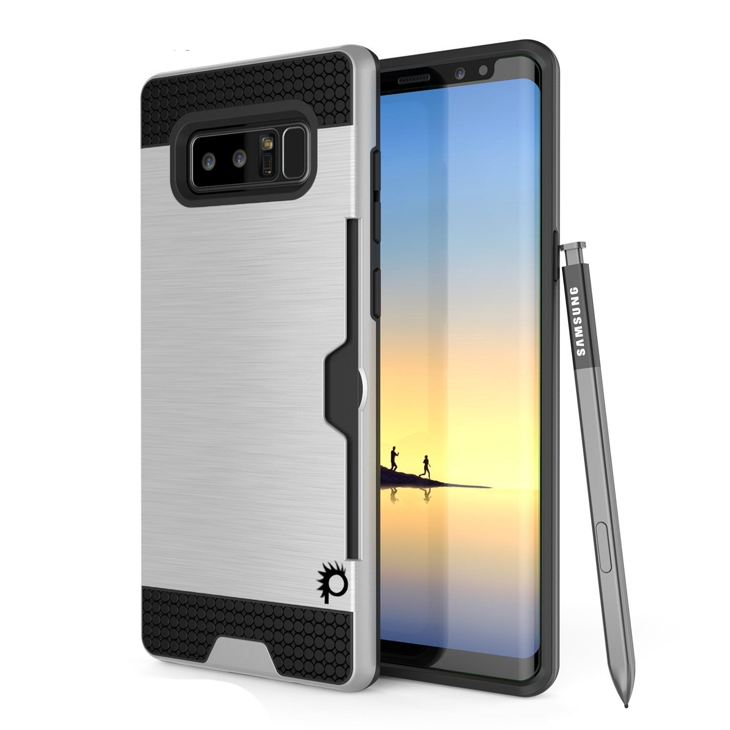 Galaxy Note 8 PunkCase, [SLOT Series] Slim Fit Cover [Silver]