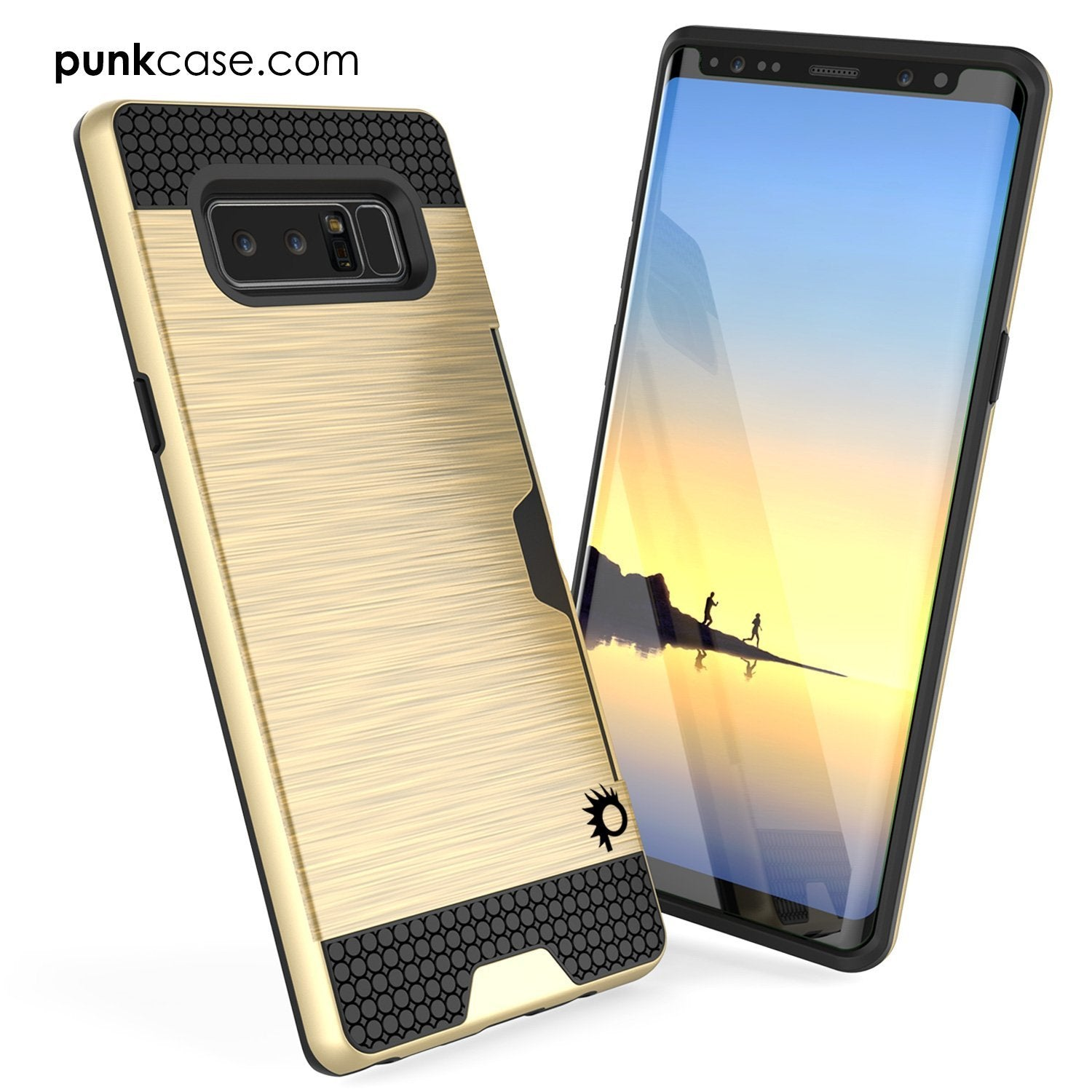 Galaxy Note 8 PunkCase, [SLOT Series] Slim Fit Cover [Gold]