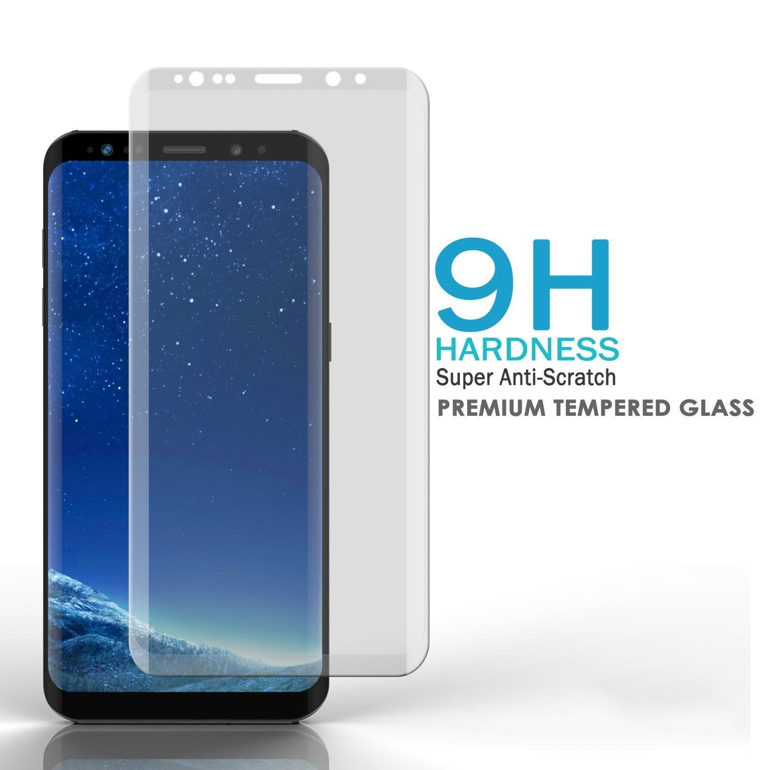 Galaxy S8 Plus Punkcase SHIELD Tempered Glass 0.33mm Thick 9H, Clear