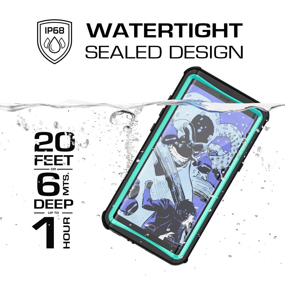 Galaxy Note 8, Ghostek Nautical PunkCase Armor Waterproof, Teal