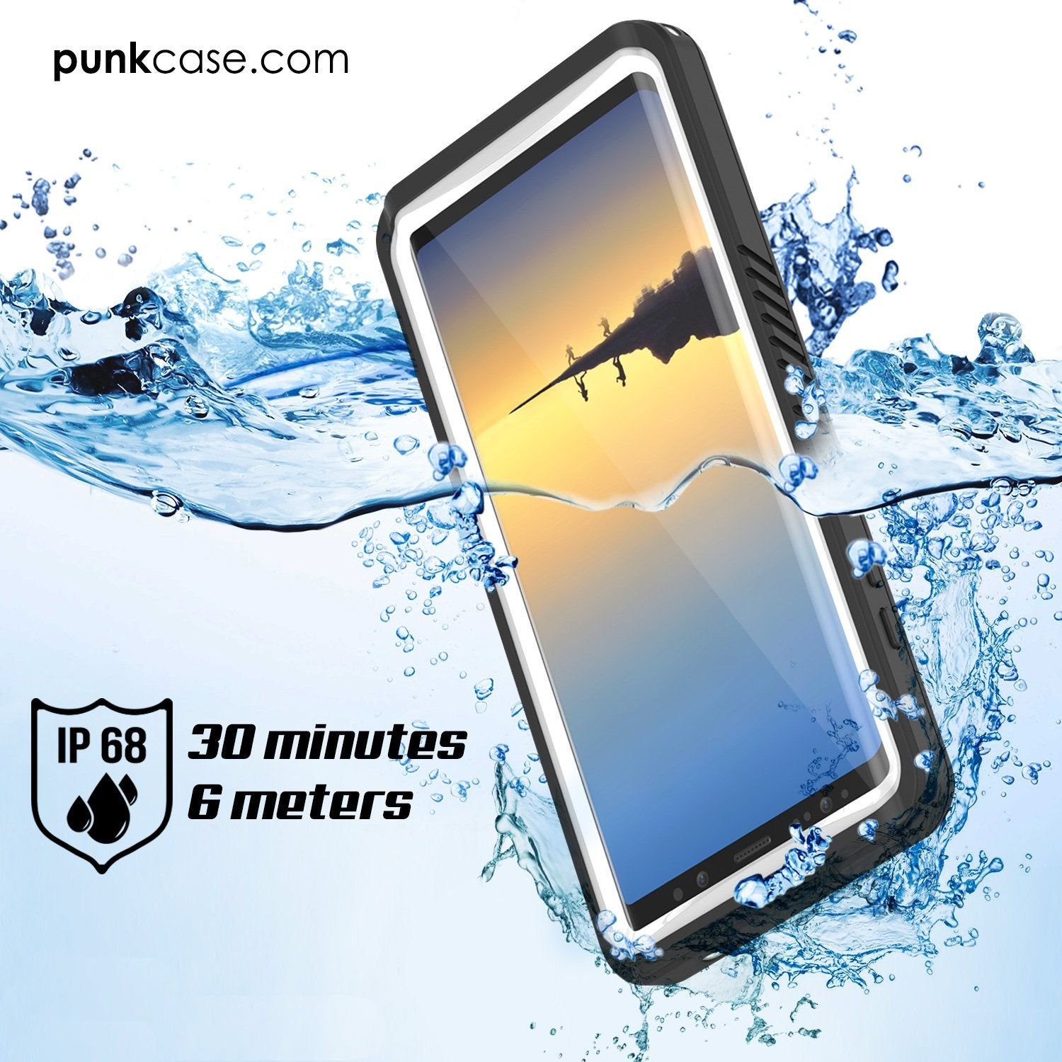 on sale ed760 65423 Galaxy Note 8 Punkcase Extreme Series W/ Built In Screen Case White