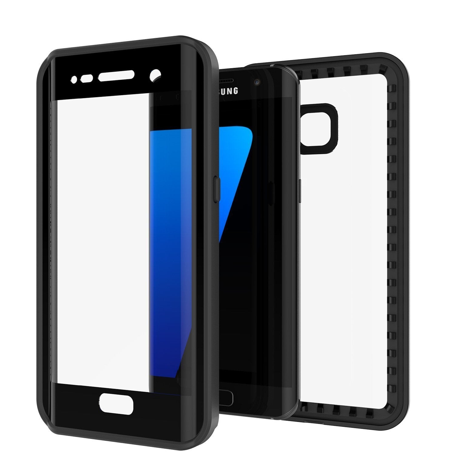 cheap for discount 16297 8df86 Galaxy S7 Edge Waterproof Case, Punkcase [Extreme Series] [Slim Fit] Armor  Cover W/ Built In Screen Protector [BLACK]