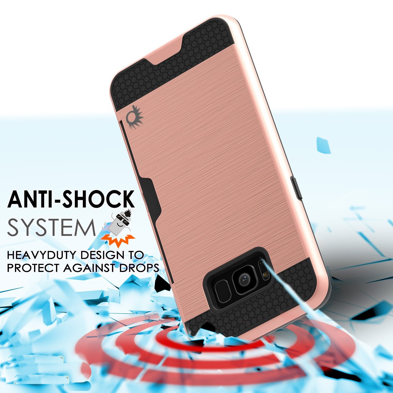 Galaxy S8 Plus case SLOT Series Dual-Layer Armor Cover, Rose Gold