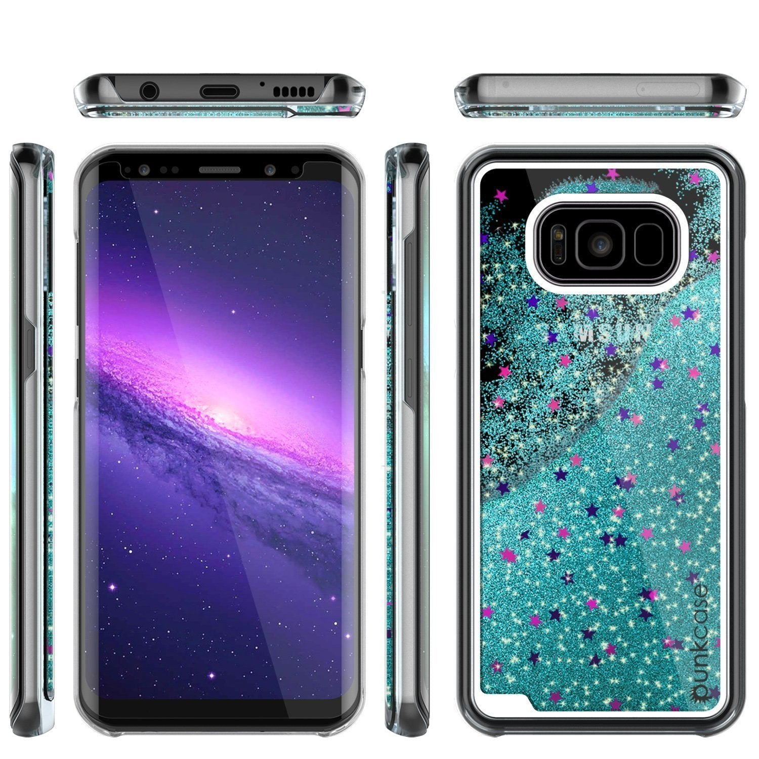 Galaxy S8 Case, Punkcase® Lucid Teal Series | Card Slot | Shield Screen Protector | Ultra Fit