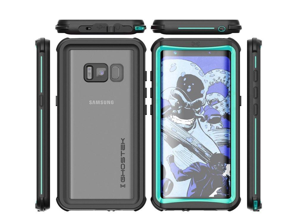 Galaxy S8 Plus Waterproof, Punkcase Ghostek Nautical Series, Teal