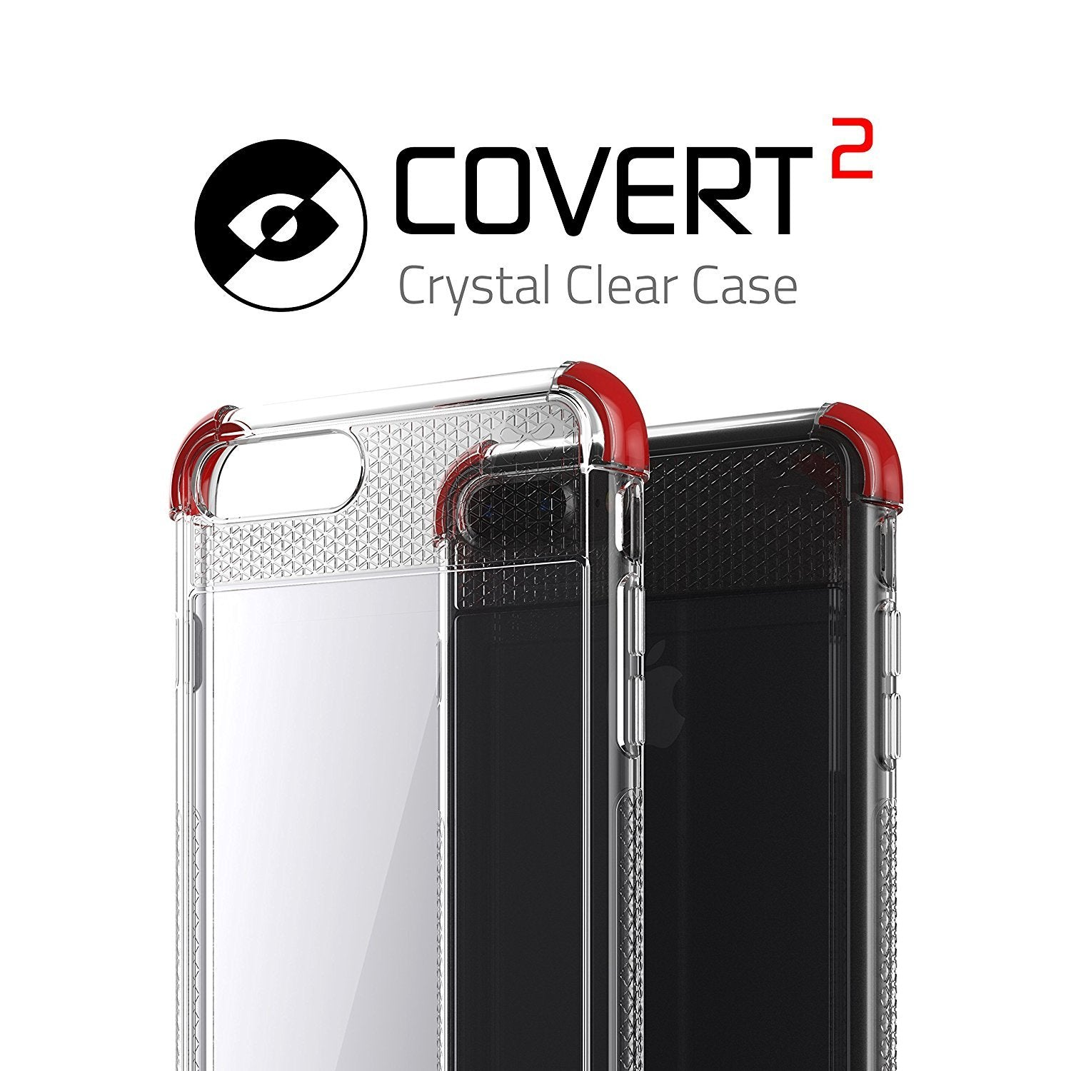 iPhone 8+ Plus Case, Ghostek Covert 2 Series for iPhone 8+ Plus Protective Case [ Red]