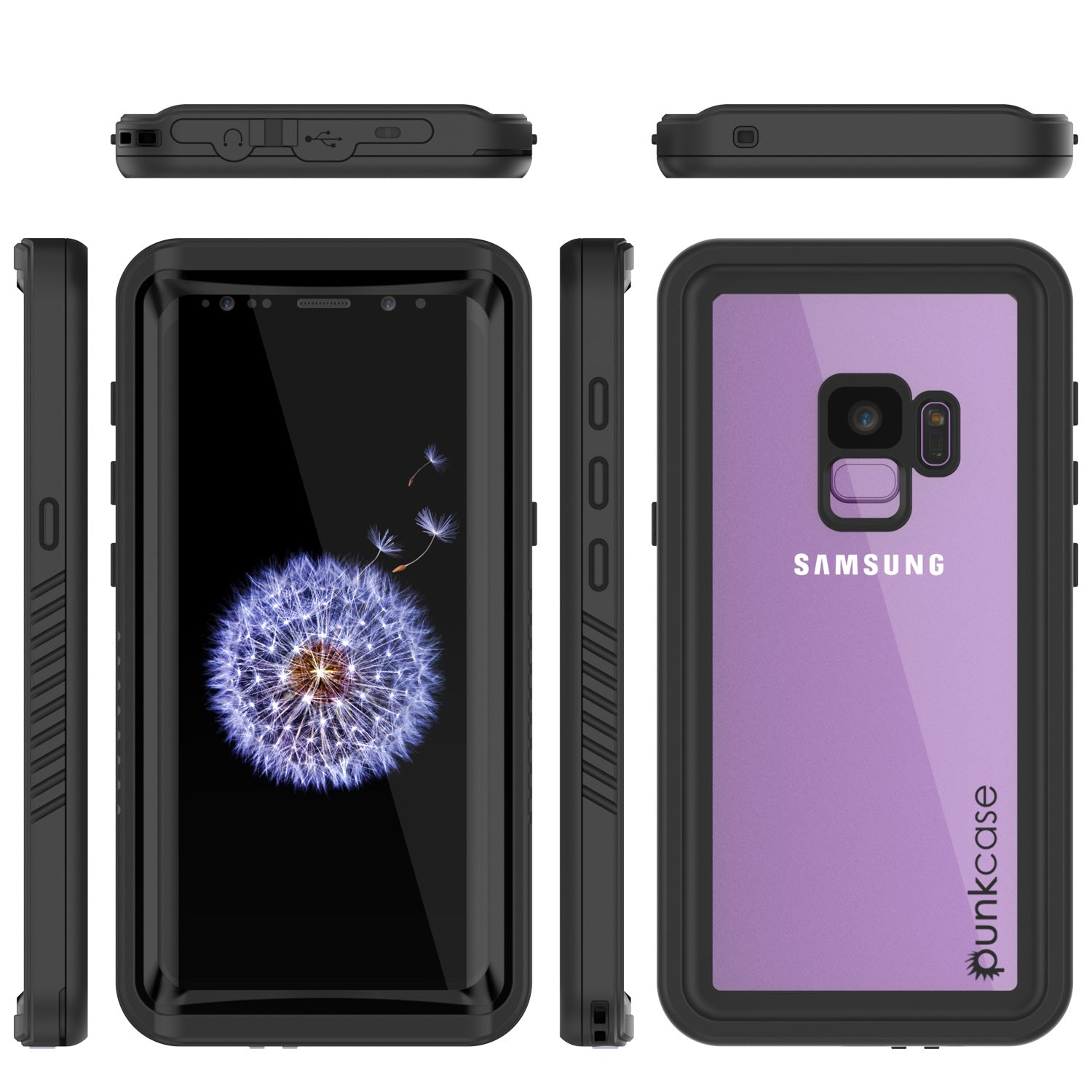 Galaxy S9 Plus, Punkcase Extreme W/ Built Screen Protector [Black]