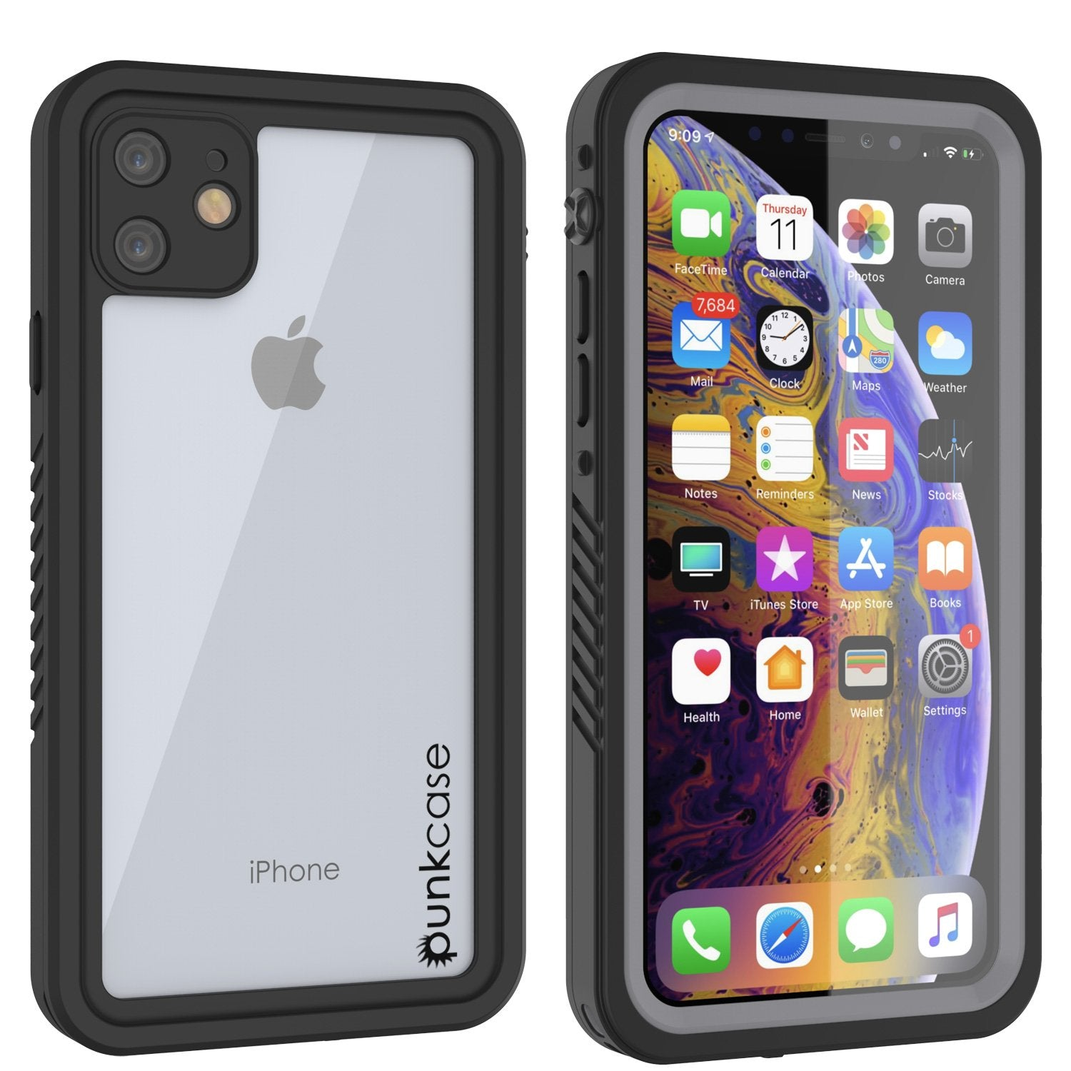 iPhone 11 Waterproof Case, Punkcase [Extreme Series] Armor Cover W/ Built In Screen Protector [Clear]