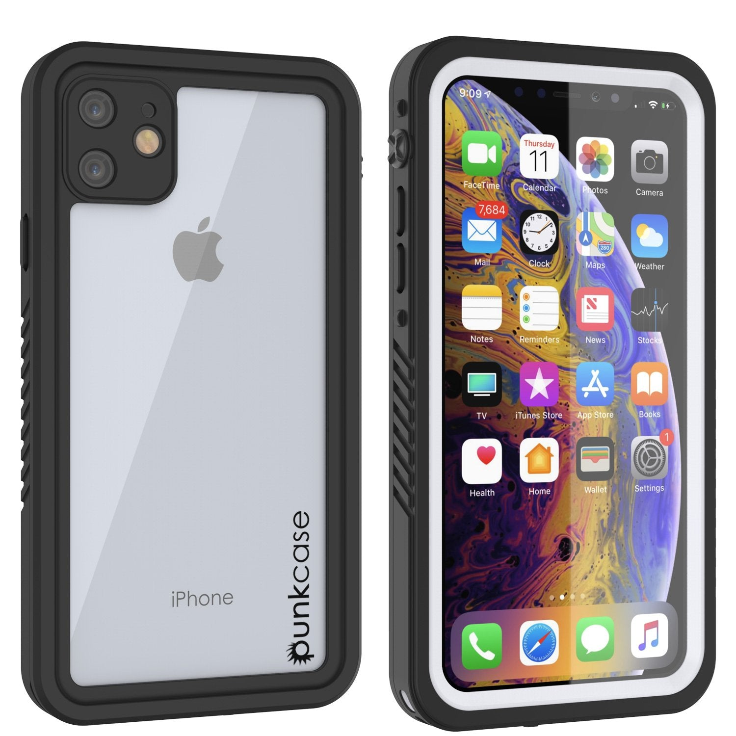 iPhone 11 Waterproof Case, Punkcase [Extreme Series] Armor Cover W/ Built In Screen Protector [White]
