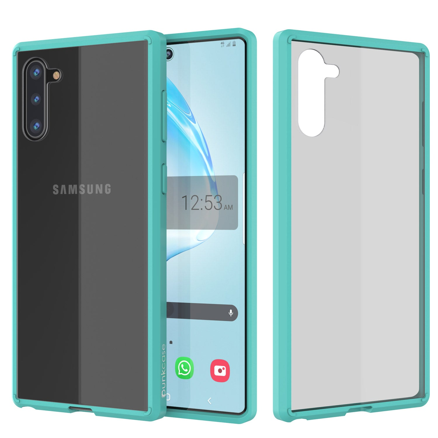 Galaxy Note 10 Punkcase Lucid-2.0 Series Slim Fit Armor Teal Case Cover
