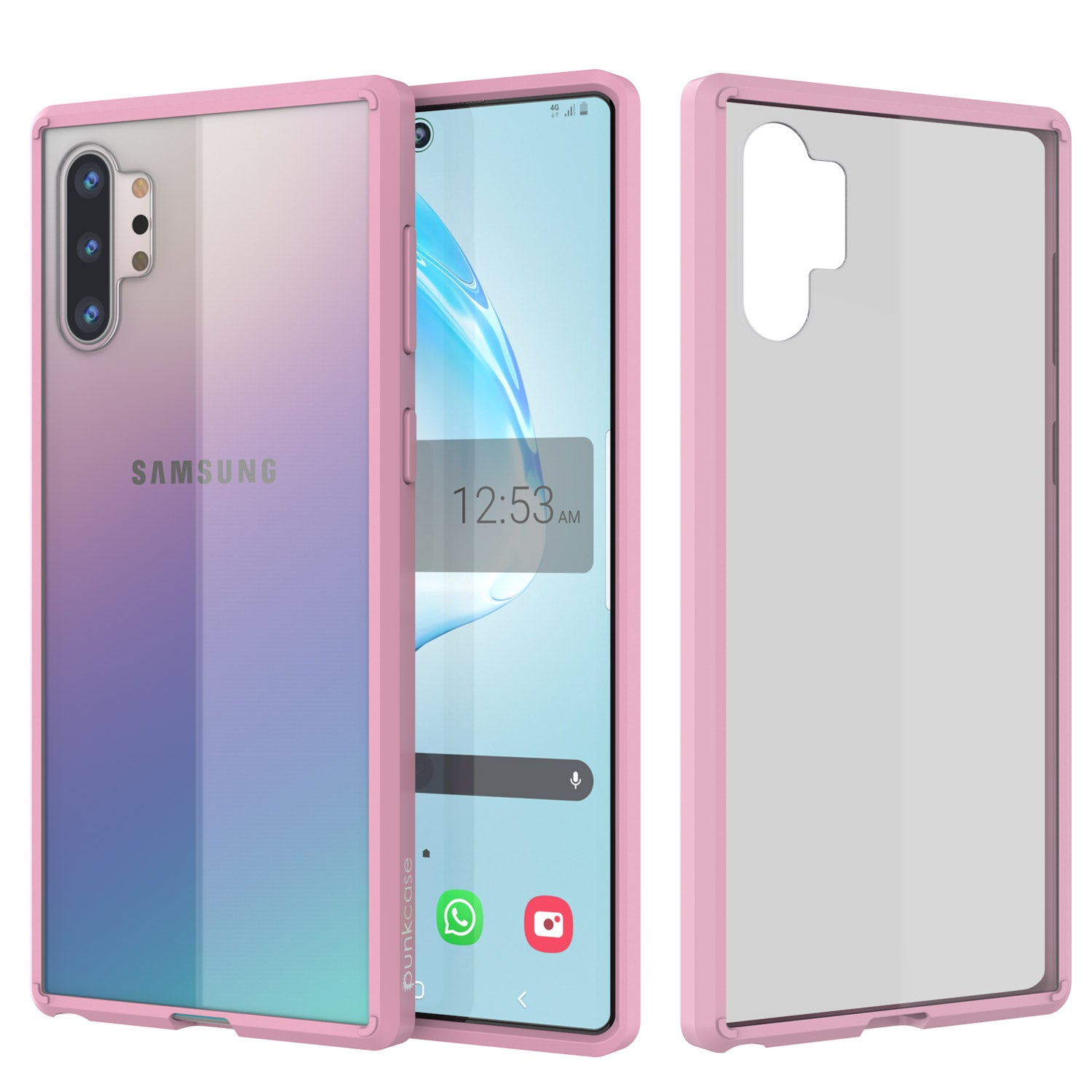 Galaxy Note 10+ Plus Punkcase Lucid-2.0 Series Slim Fit Armor Pink Case Cover