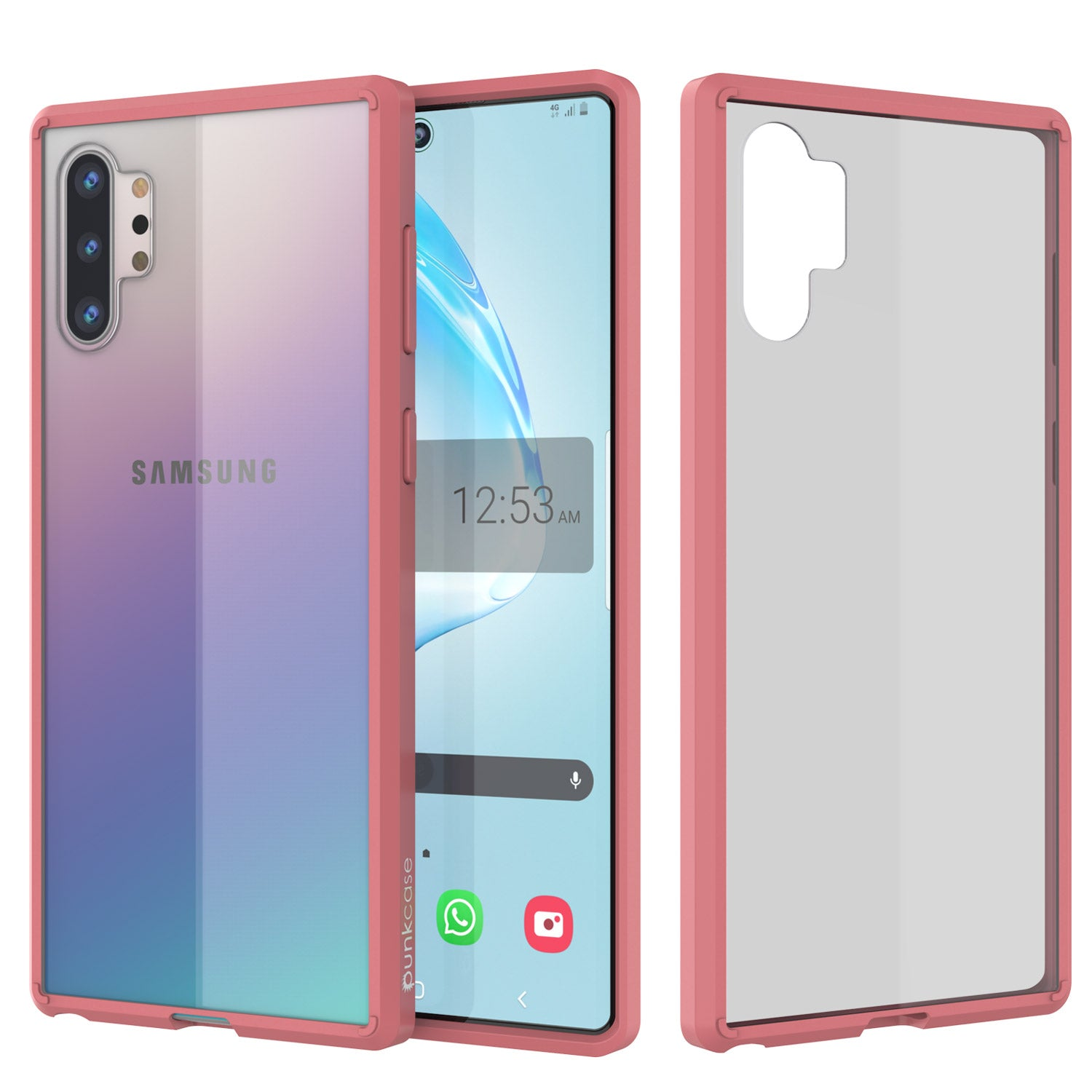 Galaxy Note 10+ Plus Punkcase Lucid-2.0 Series Slim Fit Armor Crystal Pink Case Cover