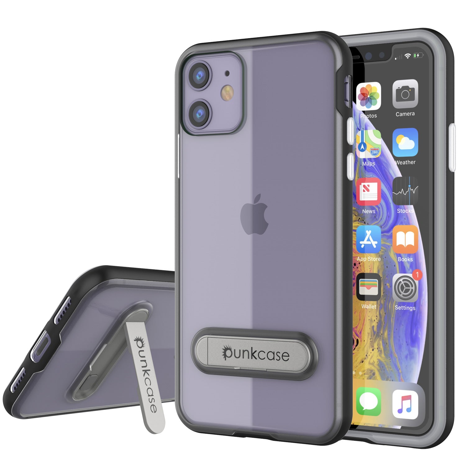iPhone 11 Case, PUNKcase [LUCID 3.0 Series] [Slim Fit] Armor Cover w/ Integrated Screen Protector [Black]