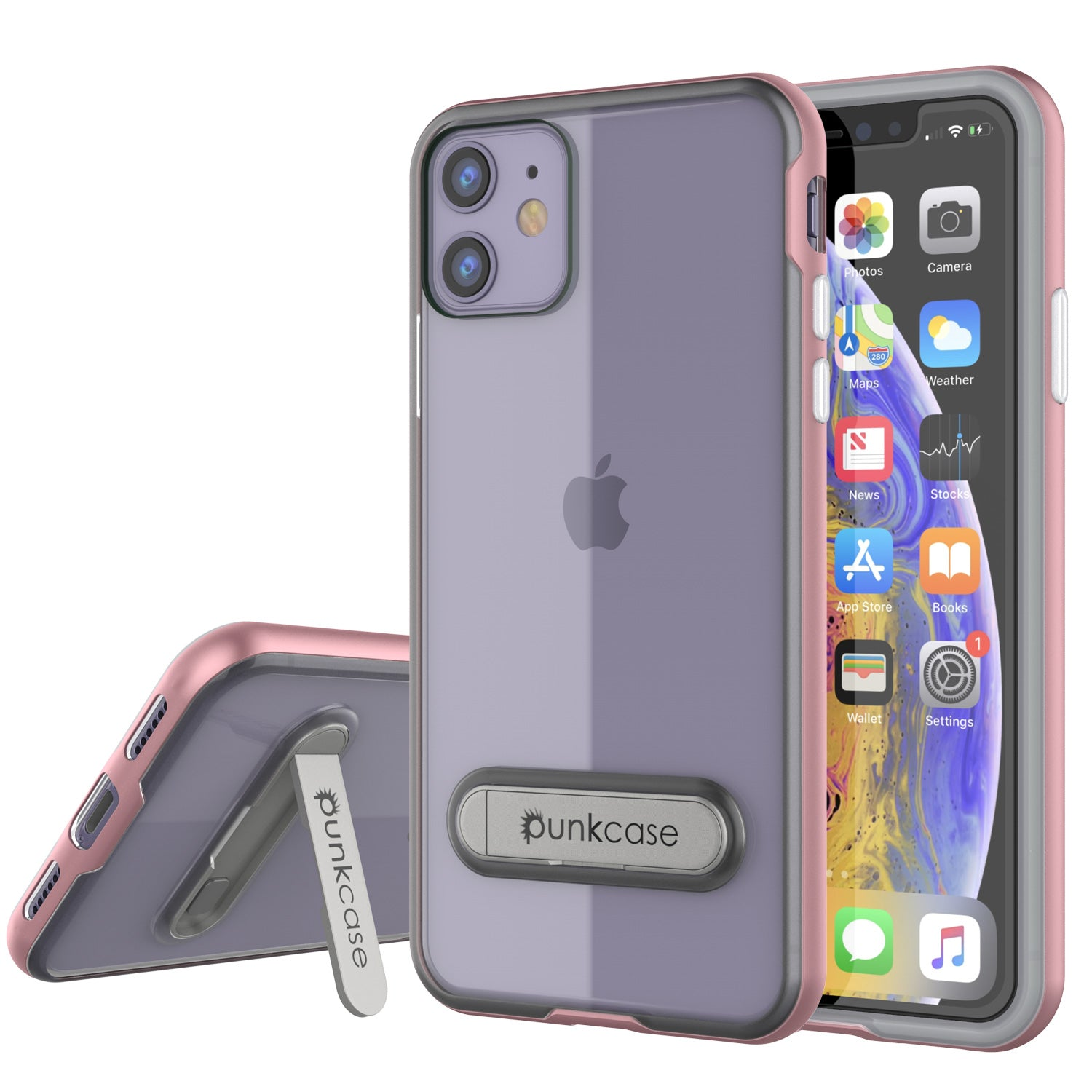 iPhone 11 Case, PUNKcase [LUCID 3.0 Series] [Slim Fit] Armor Cover w/ Integrated Screen Protector [Rose Gold]