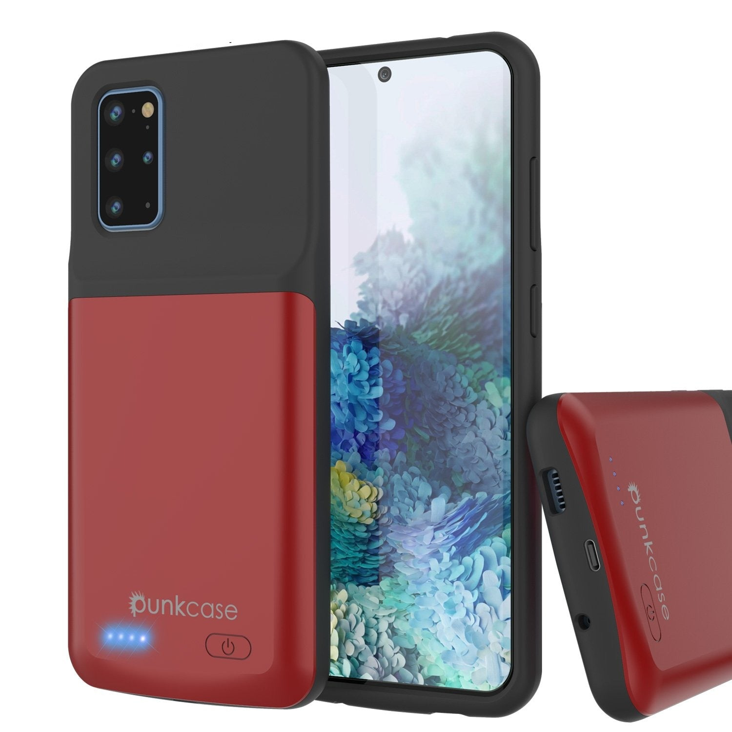 PunkJuice S20+ Plus Battery Case Red - Fast Charging Power Juice Bank with 6000mAh