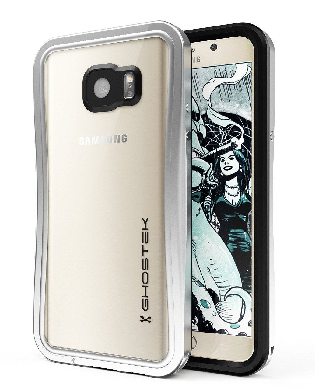Note 5 Waterproof Case, Ghostek® Atomic 2.0 Series Silver for Samsung Galaxy Note 5 | Aluminum Frame