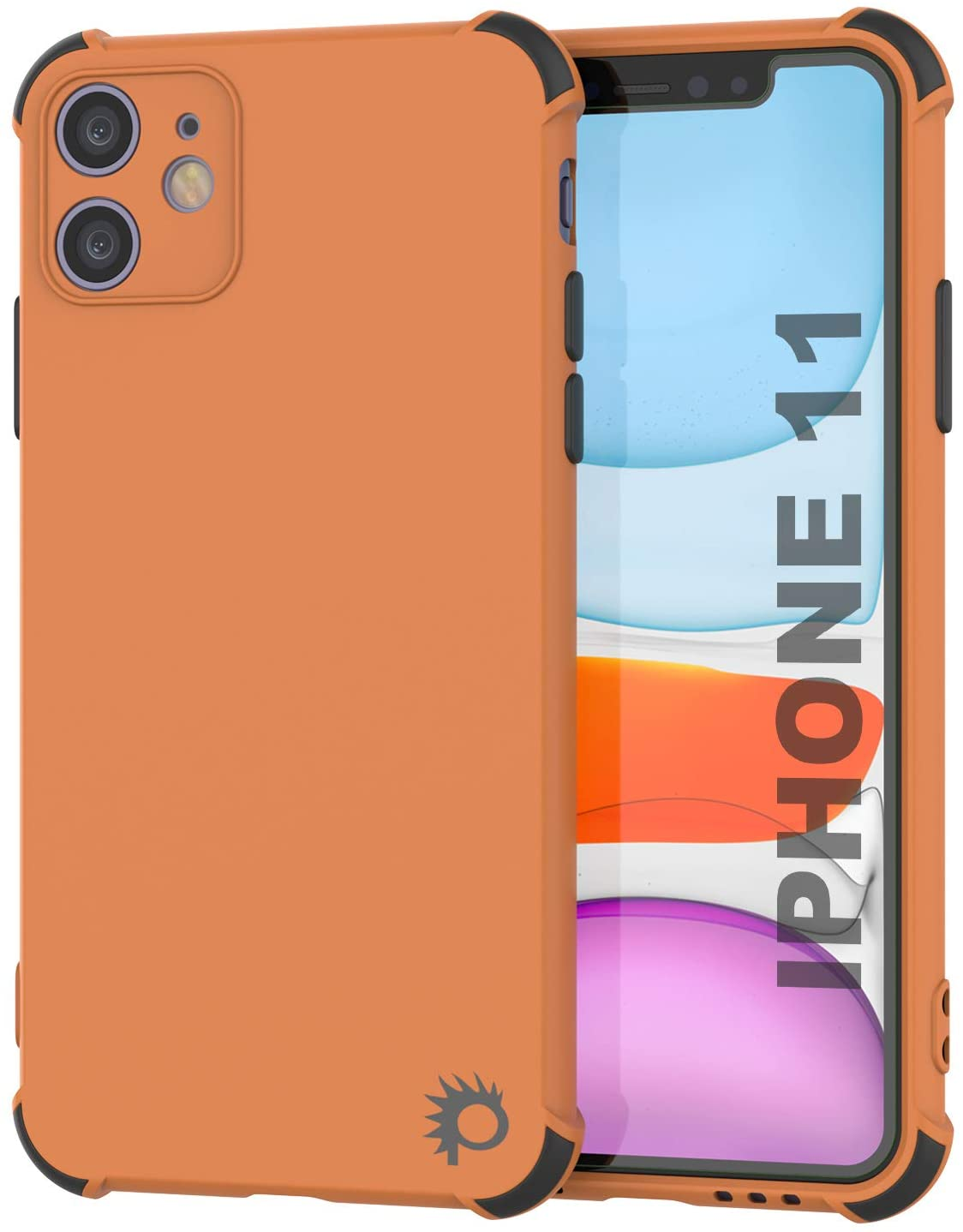 Punkcase Protective & Lightweight TPU Case [Sunshine Series] for iPhone 11 [Orange]
