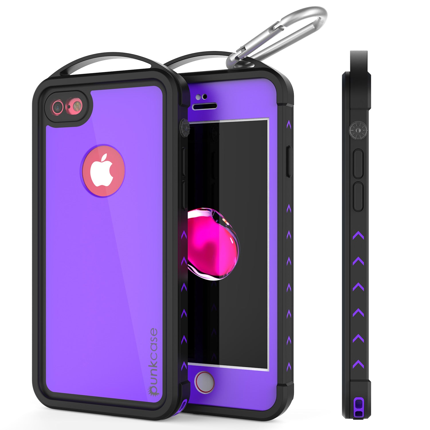 iPhone 7 Waterproof Case, Punkcase ALPINE Series, Purple | Heavy Duty Armor Cover