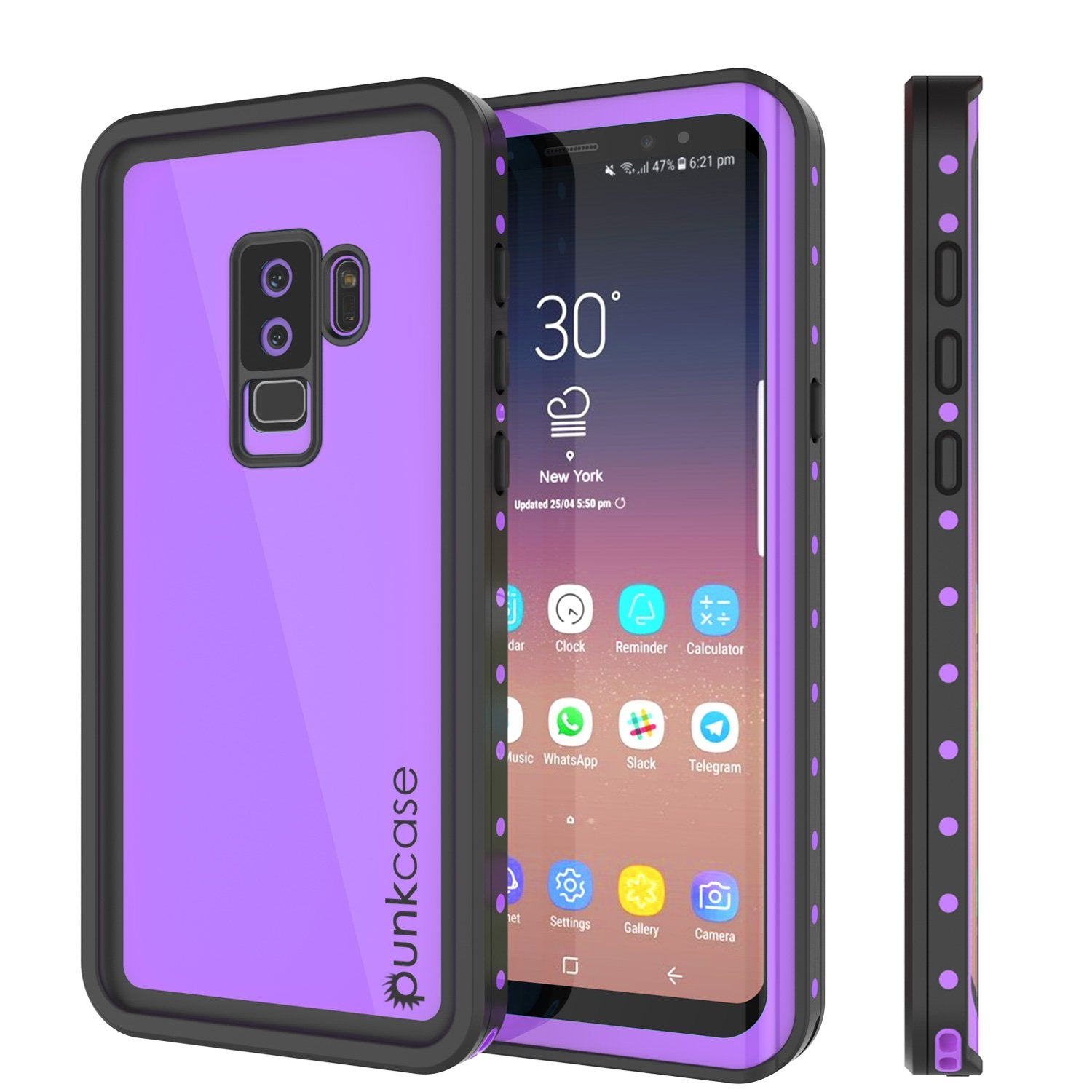Galaxy S9 Plus Waterproof PunkCase StudStar Purple Thin 6.6ft Case