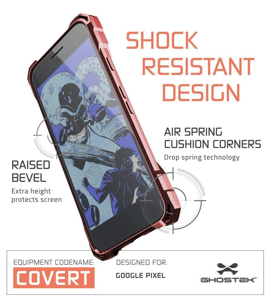 Google Pixel Case, Ghostek® Covert Peach, Premium Impact Protective Armor | Lifetime Warranty Exchange