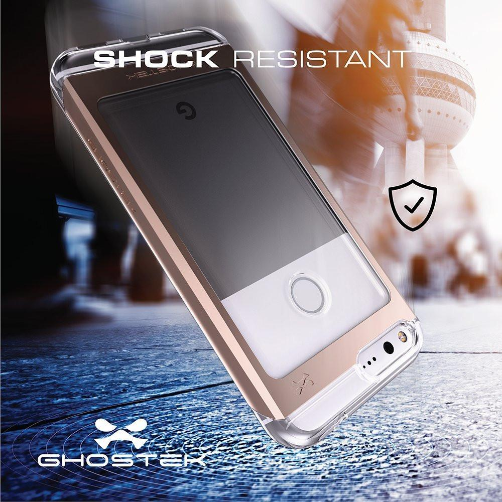 Google Pixel Case, Ghostek® Cloak 2.0 Gold w/ Explosion-Proof Screen Protector | Aluminum Frame