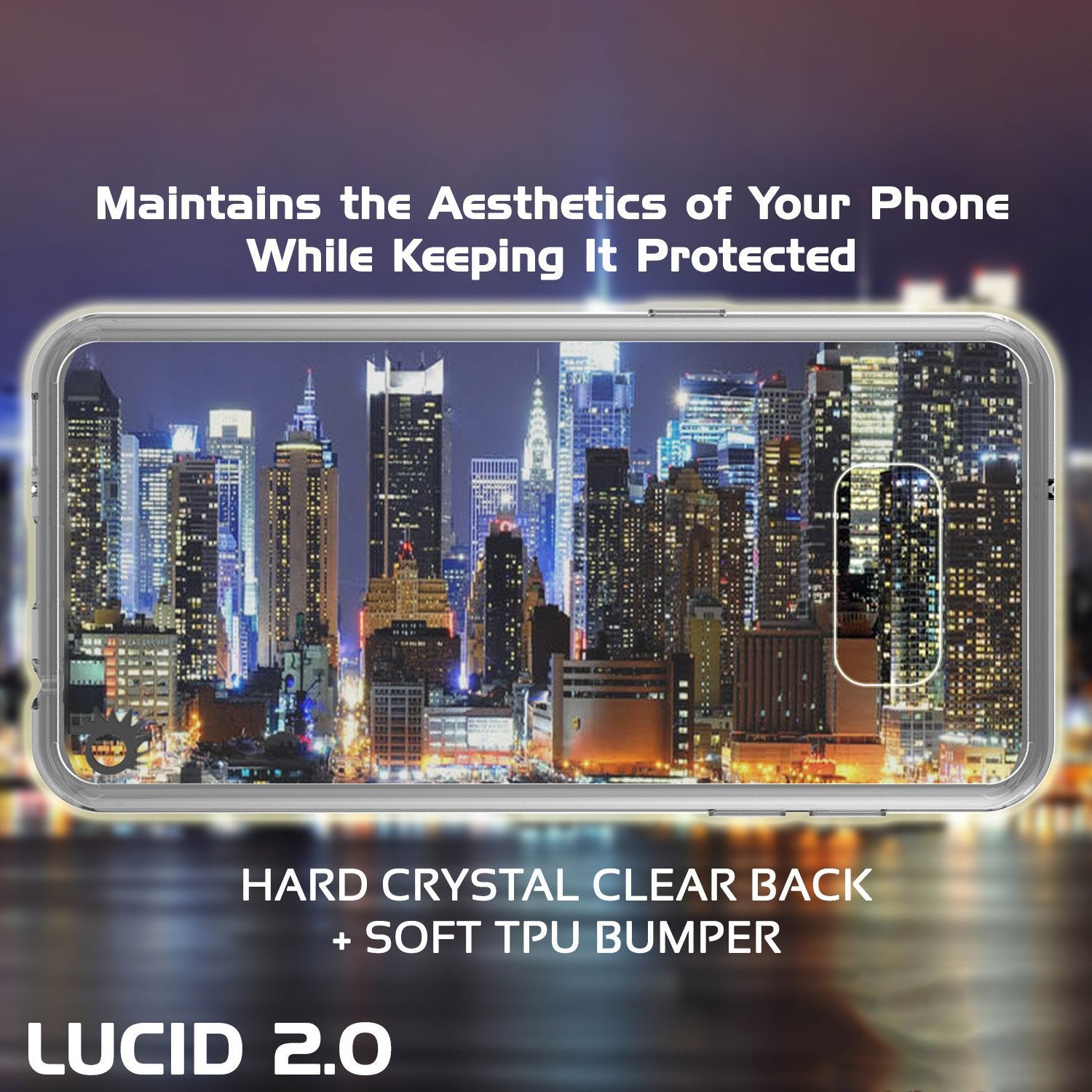 Galaxy S8 Plus Punkcase LUCID 2.0 Series Clear Back Case [Clear]