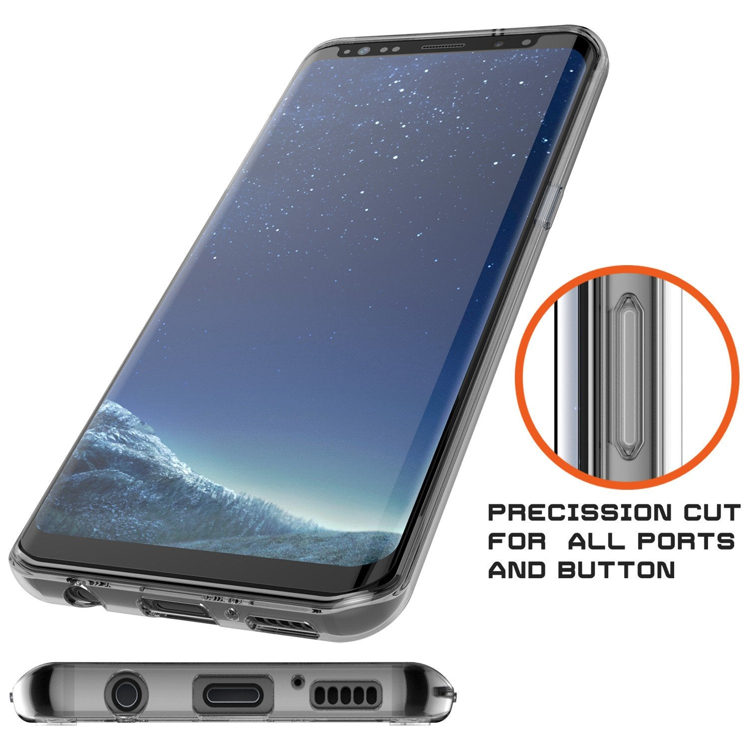 Galaxy S8 Case Punkcase [LUCID 2.0 Series] [Slim Fit] [CLEAR]