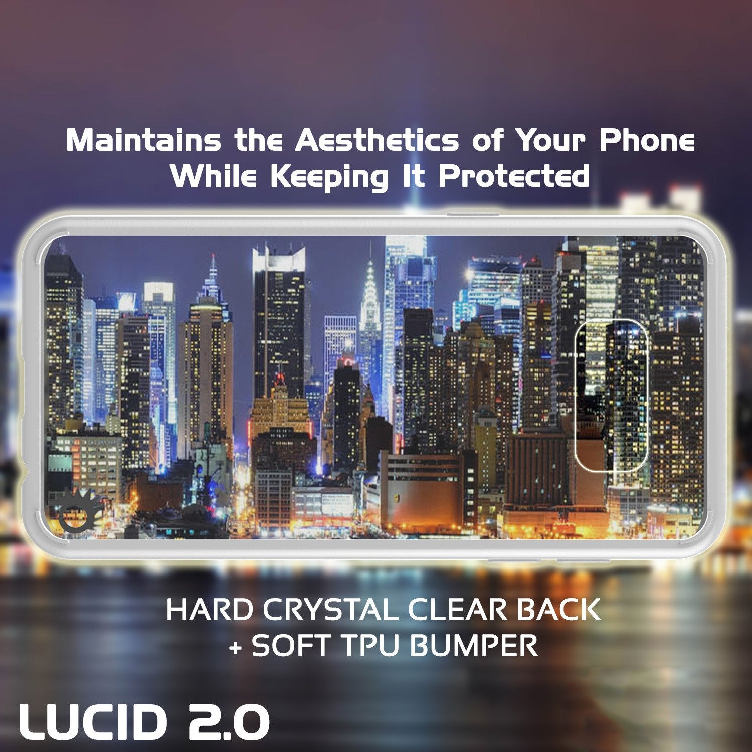 Galaxy S8 Plus Punkcase LUCID 2.0 Series Clear Back Case, White