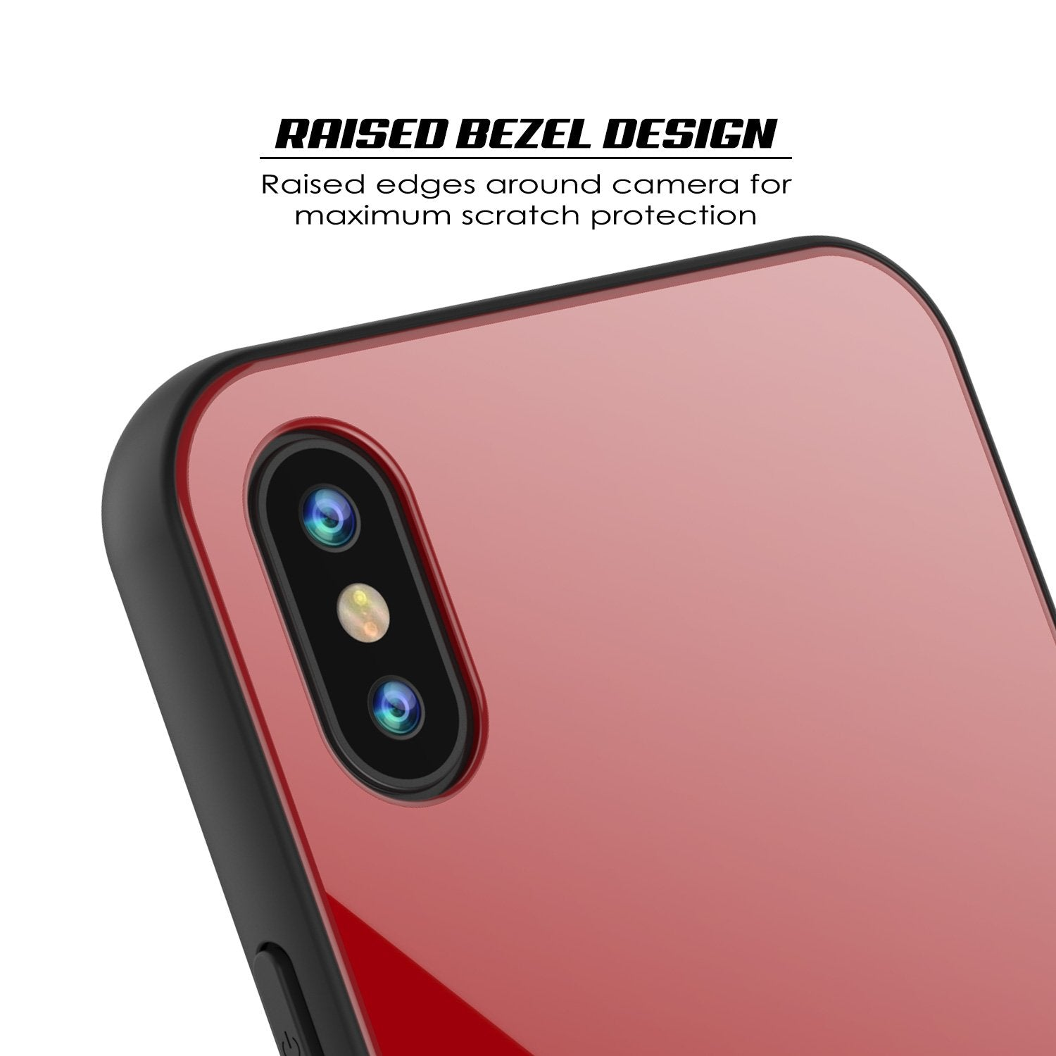 iPhone X Case, Punkcase GlassShield Ultra Thin Protectiv Cover, RED