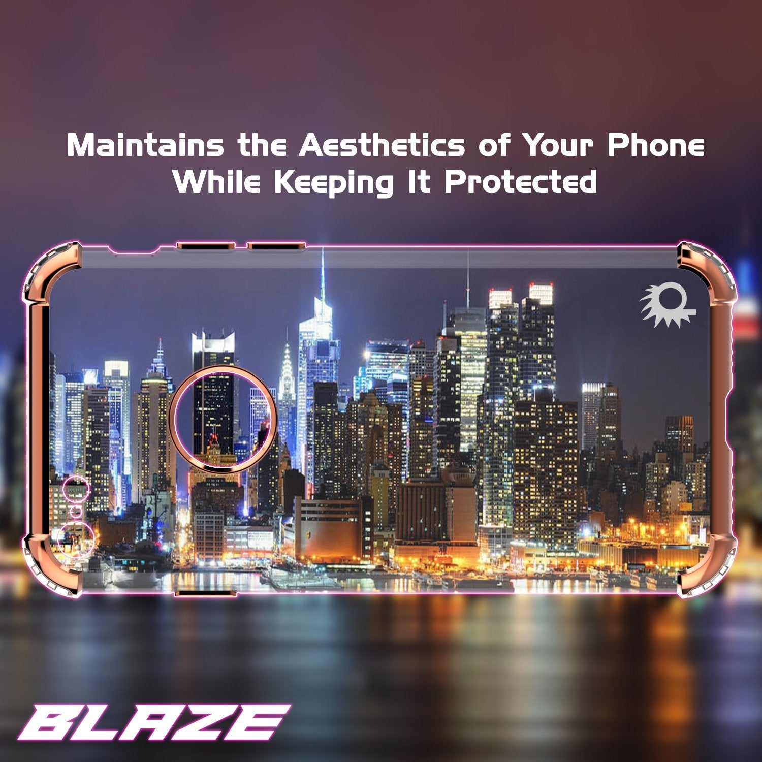 iPhone 7 Case, Punkcase [BLAZE SERIES] Protective Cover W/ PunkShield Screen Protector [Shockproof] [Slim Fit] for Apple iPhone [Red]
