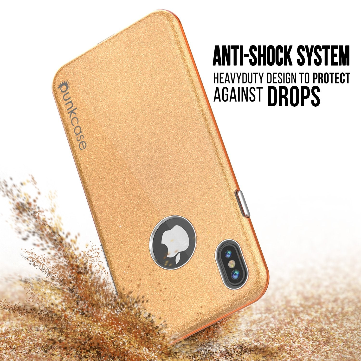 iPhone X Case, Punkcase Galactic 2.0 Series Ultra Slim Cover [Gold]