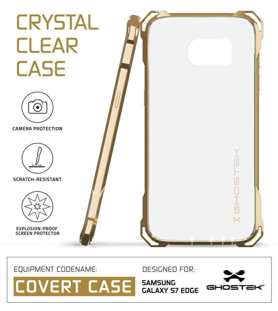 S7 Edge Case, Ghostek® Covert Gold Series Premium Impact Cover | Lifetime Warranty Exchange