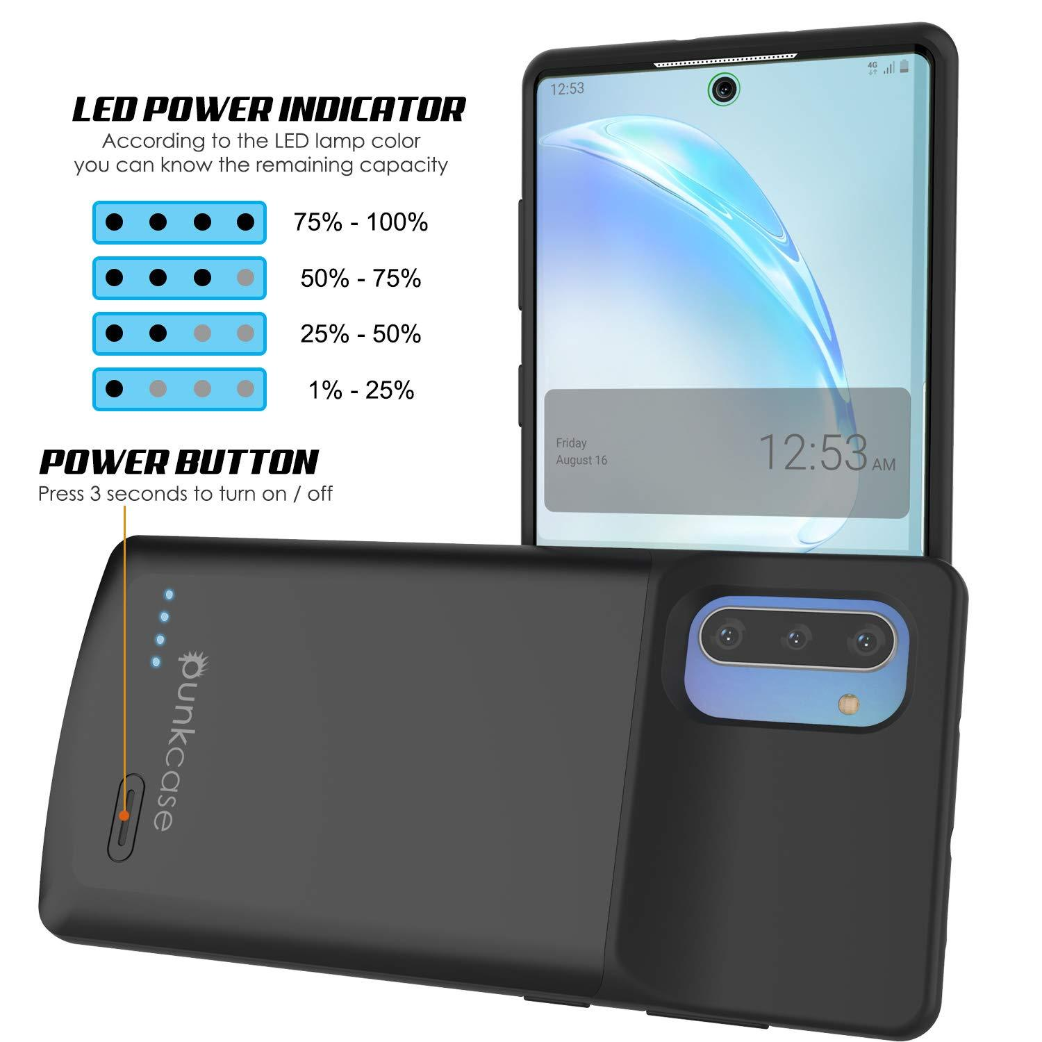 Galaxy Note 10 5200mAH Battery Charger W/ USB Port Slim Case [Black]