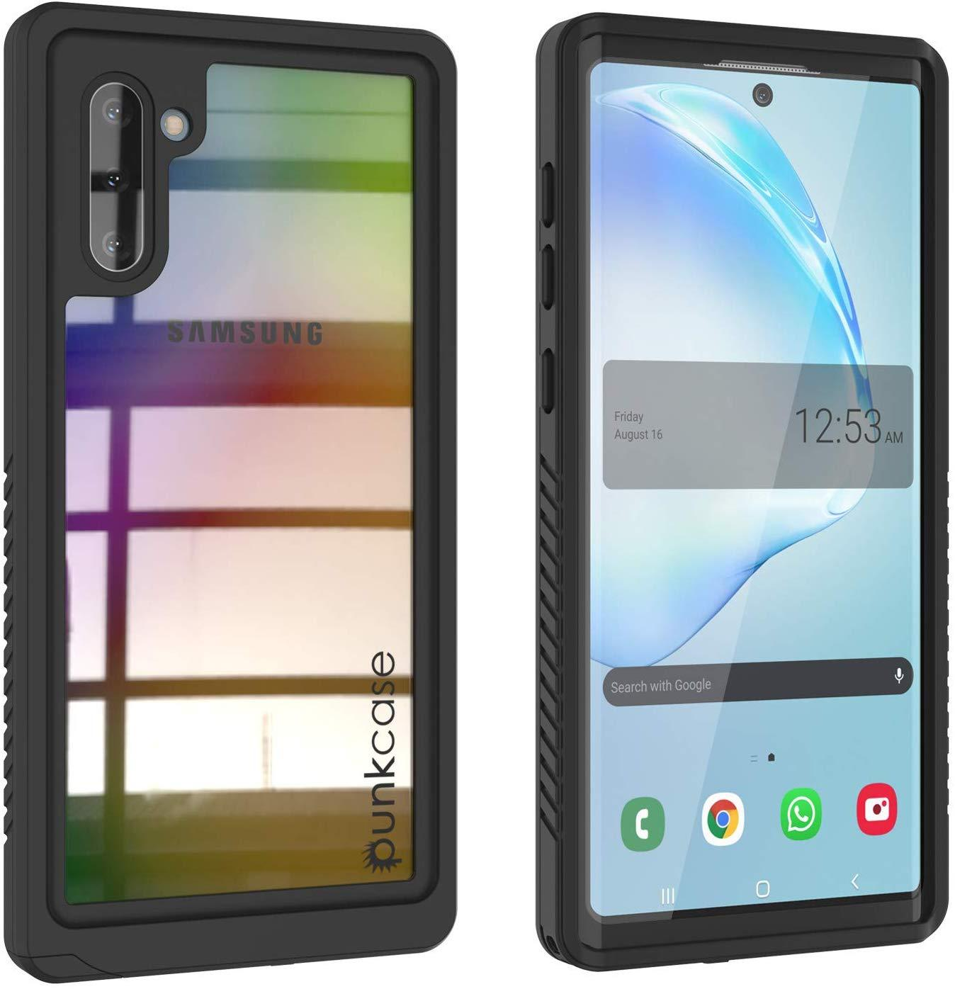 Galaxy Note 10 Case, Punkcase [Extreme Series] Armor Cover W/ Built In Screen Protector [Black]