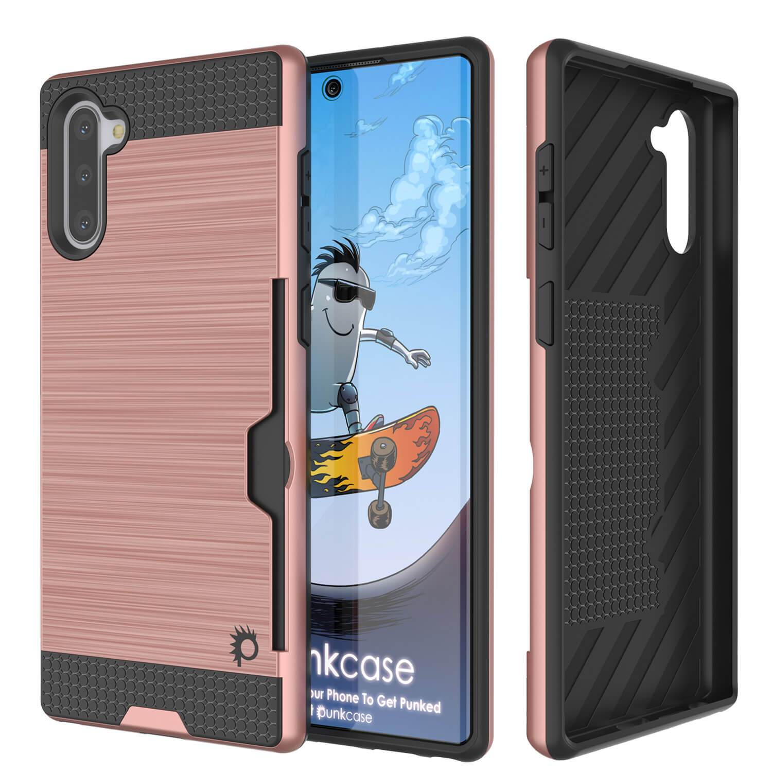 Galaxy Note 10 Case, PUNKcase [SLOT Series] Slim Fit  Samsung Note 10 [Rose Gold]