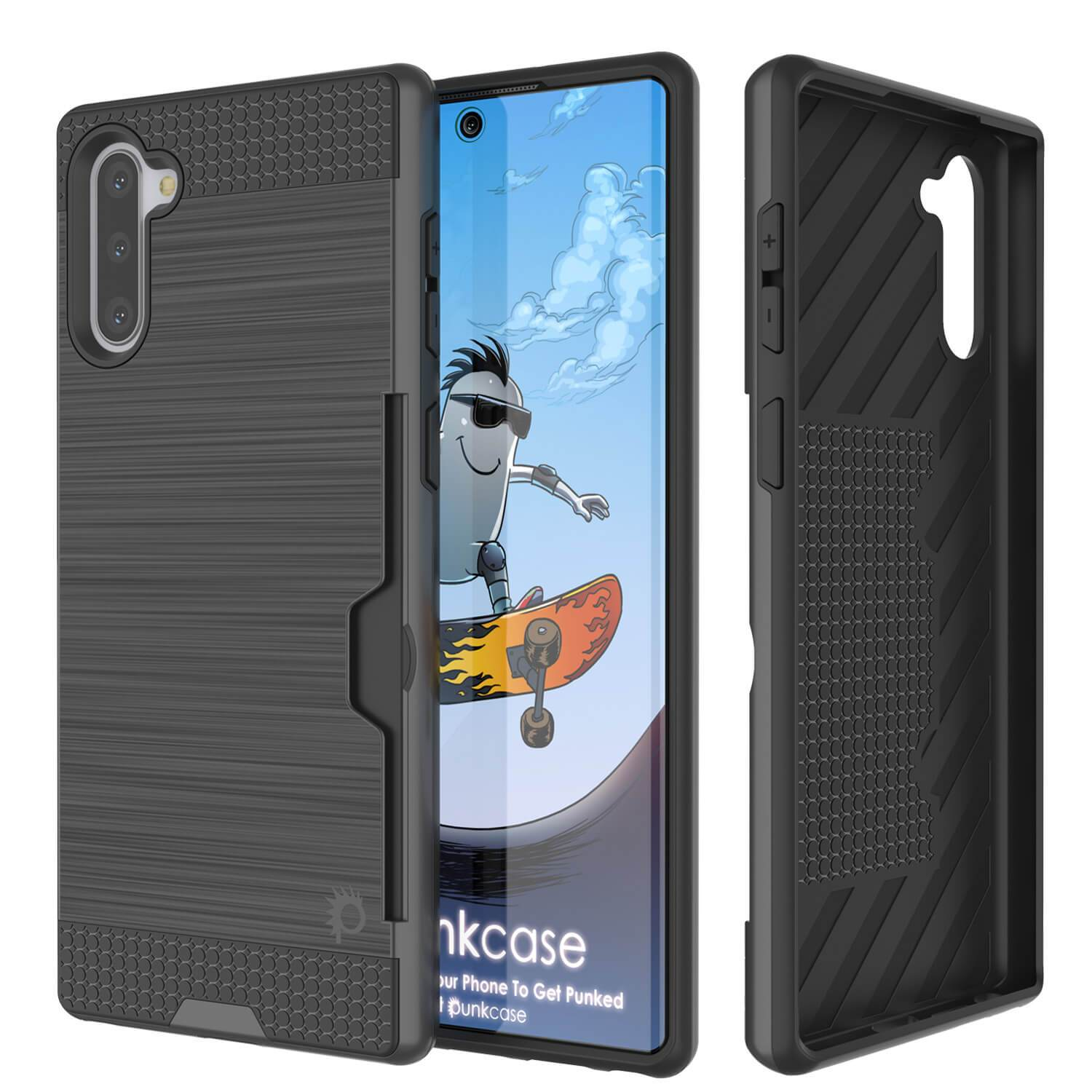Galaxy Note 10 Case, PUNKcase [SLOT Series] Slim Fit  Samsung Note 10  [Dark Grey]