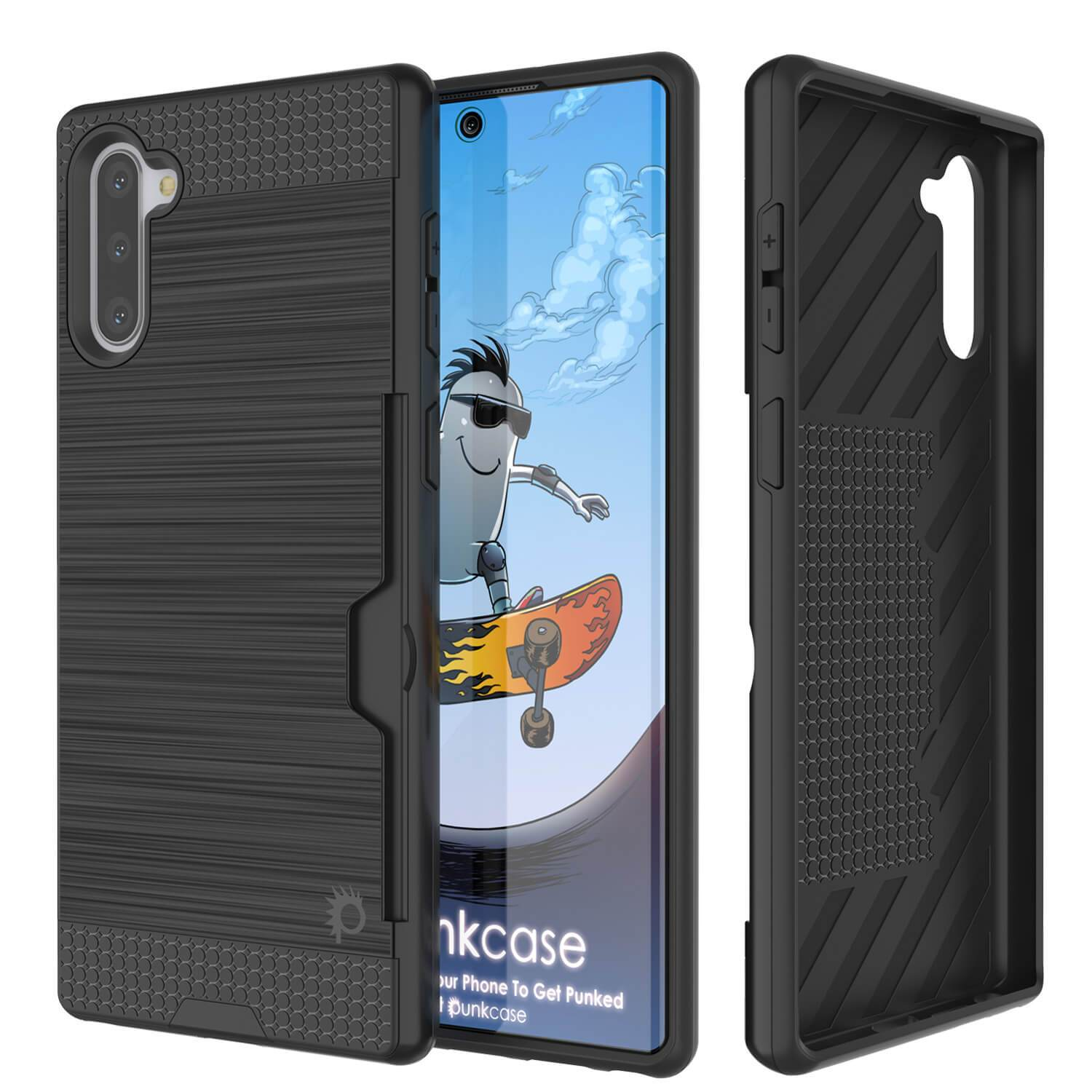Galaxy Note 10 Case, PUNKcase [SLOT Series] Slim Fit  Samsung Note 10 [Black]