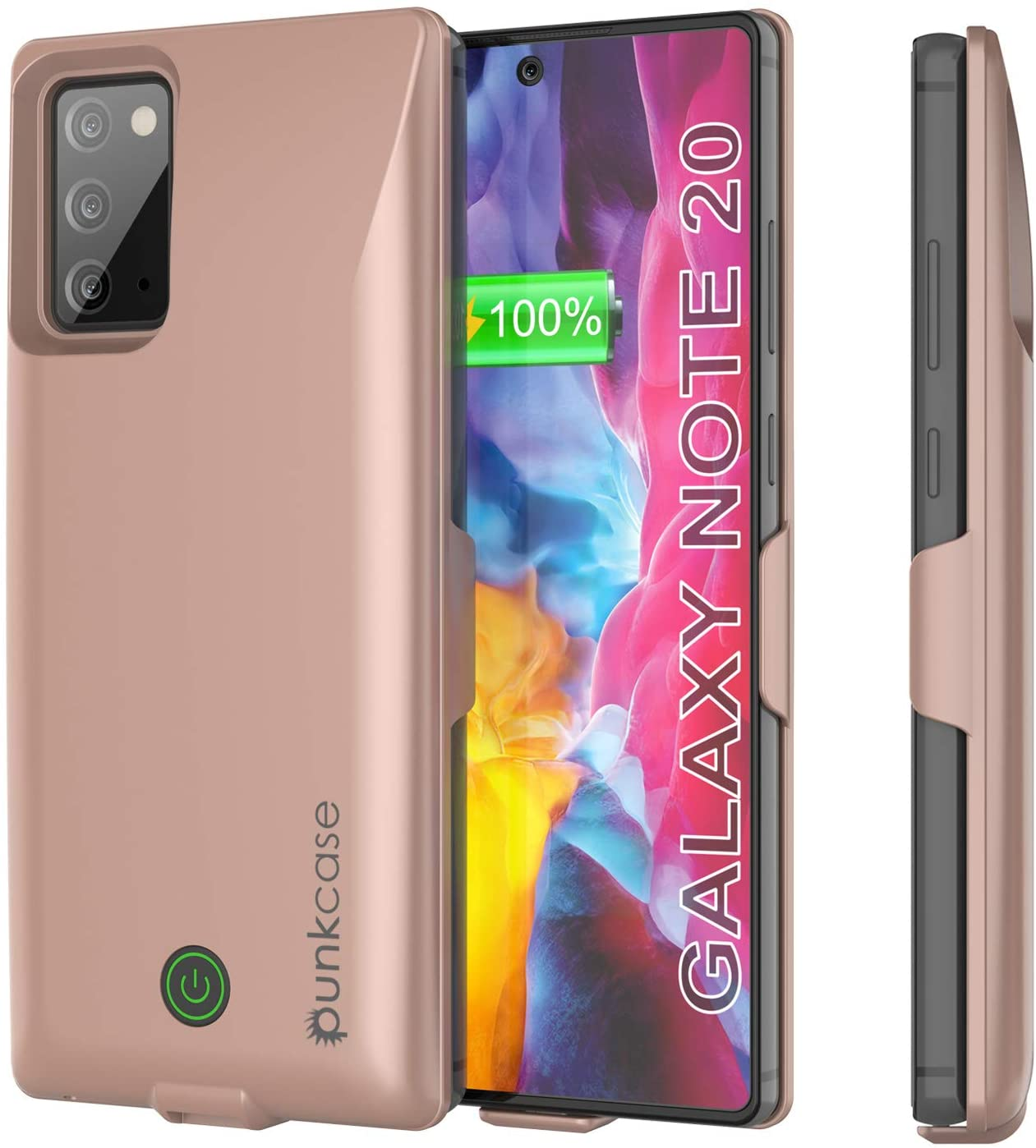 Galaxy Note 20 6000mAH Battery Charger PunkJuice 2.0 Slim Case [Rose-Gold]