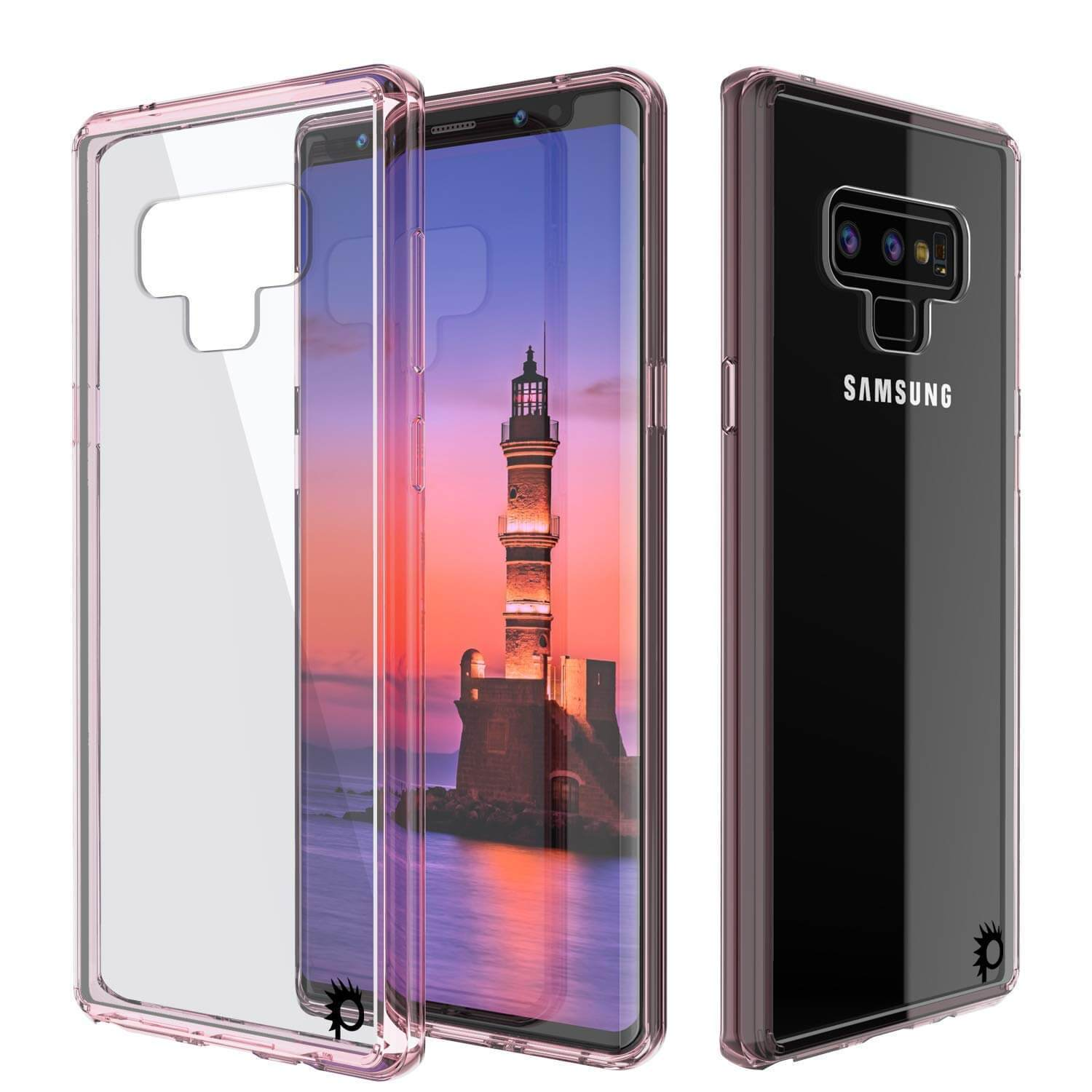 Galaxy Note 9 Case, Punkcase Lucid-2.0 Series Slim Fit Armor Crystal Pink Cover