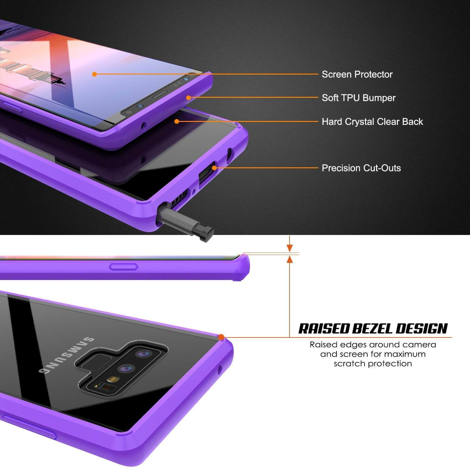premium selection 275cb aa307 Galaxy Note 9 Punkcase Lucid-2.0 Series Slim Fit Armor Purple Case Cover