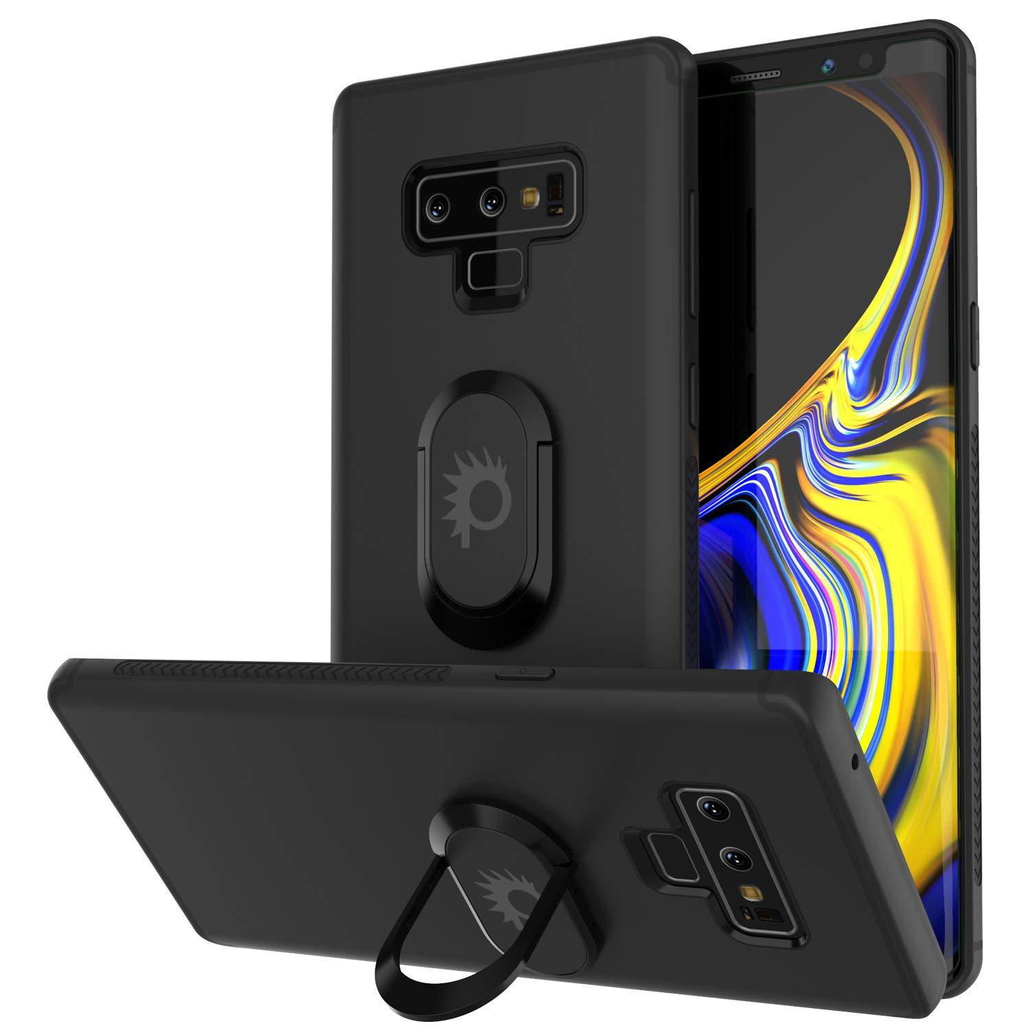 Galaxy Note 9 Case, Punkcase Magnetix  Protective TPU Cover W/ Tempered Glass Screen Protector & Kickstand [black]