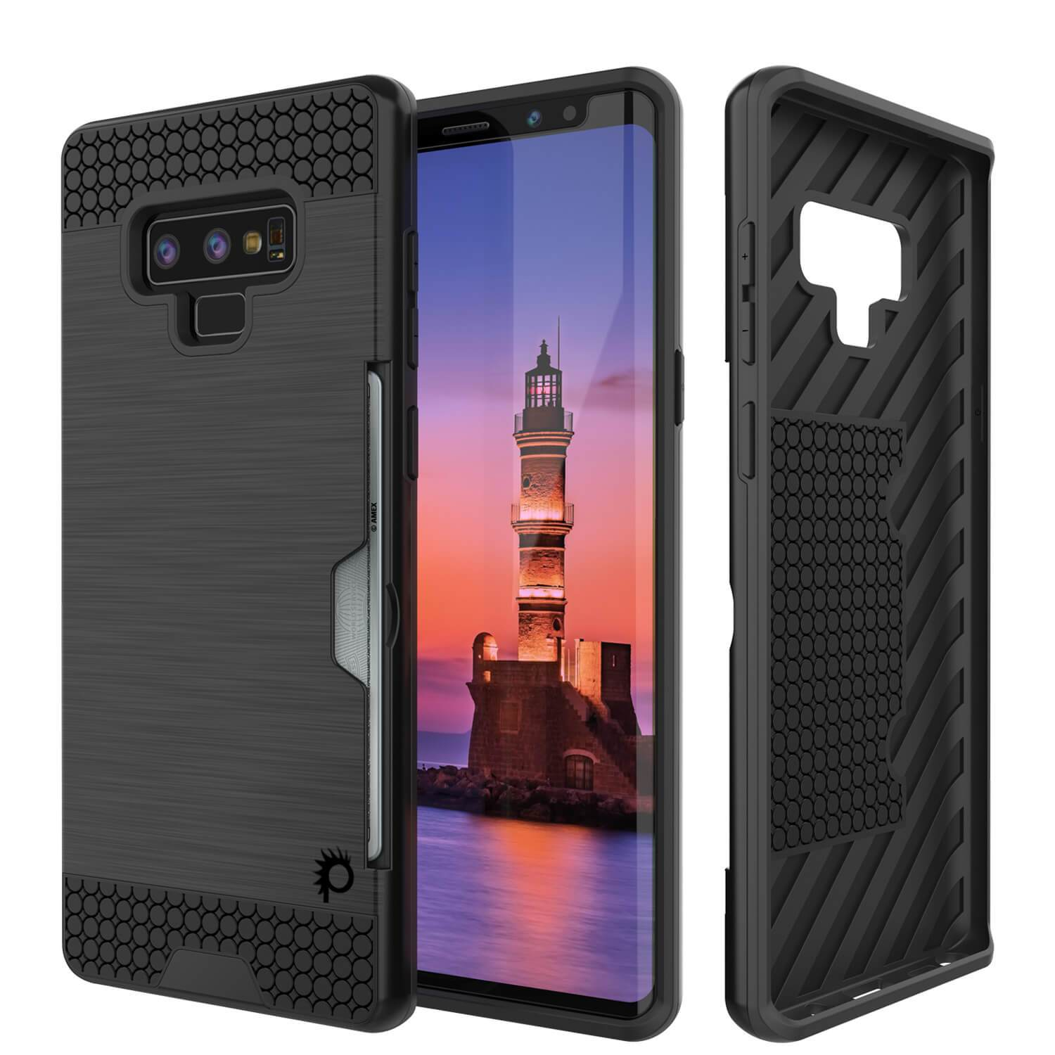 Galaxy Note 9 Case, Punkcase [SLOT Series] Slim Fit  Dual Cover [Black]