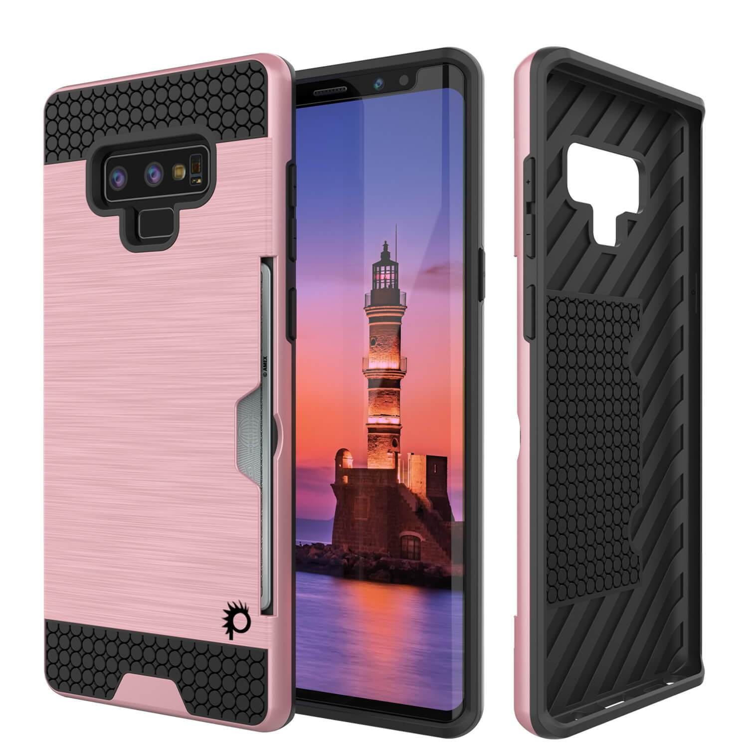 Galaxy Note 9 Case, Punkcase [SLOT Series] Slim Fit Cover [Rose Gold]