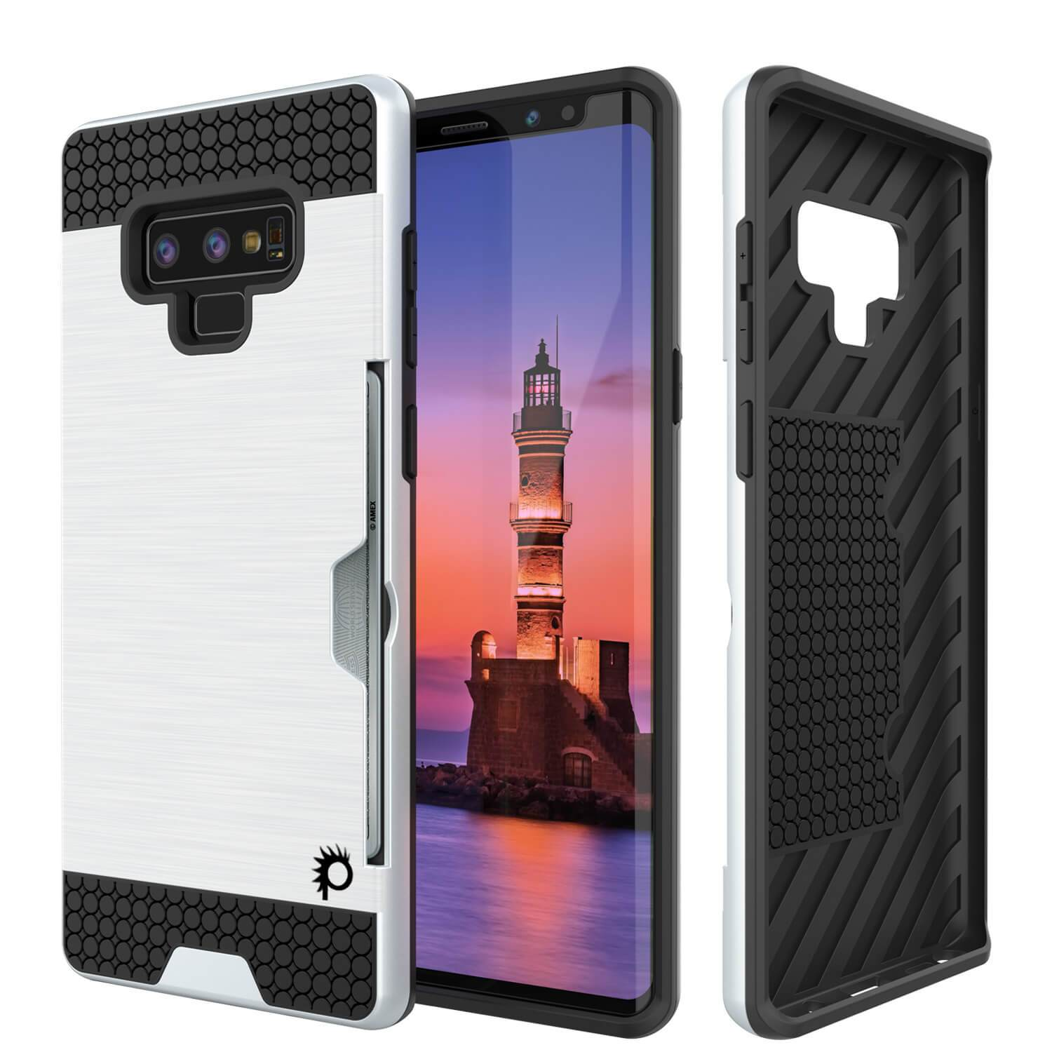 Galaxy Note 9 Case, Punkcase [SLOT Series] Slim Fit Cover [White]