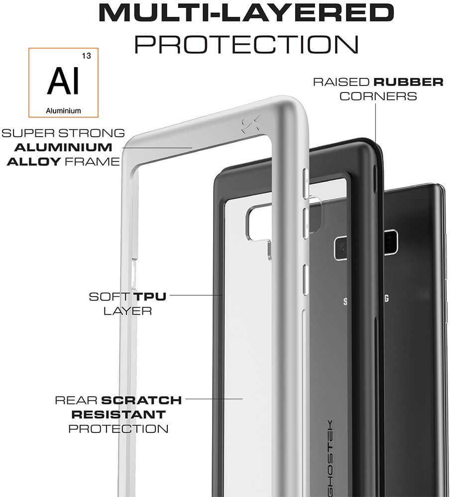 Galaxy Note 9, Ghostek Atomic Slim Case Full Body TPU [Shockproof] | Black