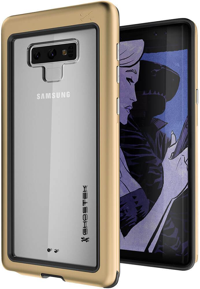 Galaxy Note 9, Ghostek Atomic Slim Case Full Body TPU [Shockproof] | Gold